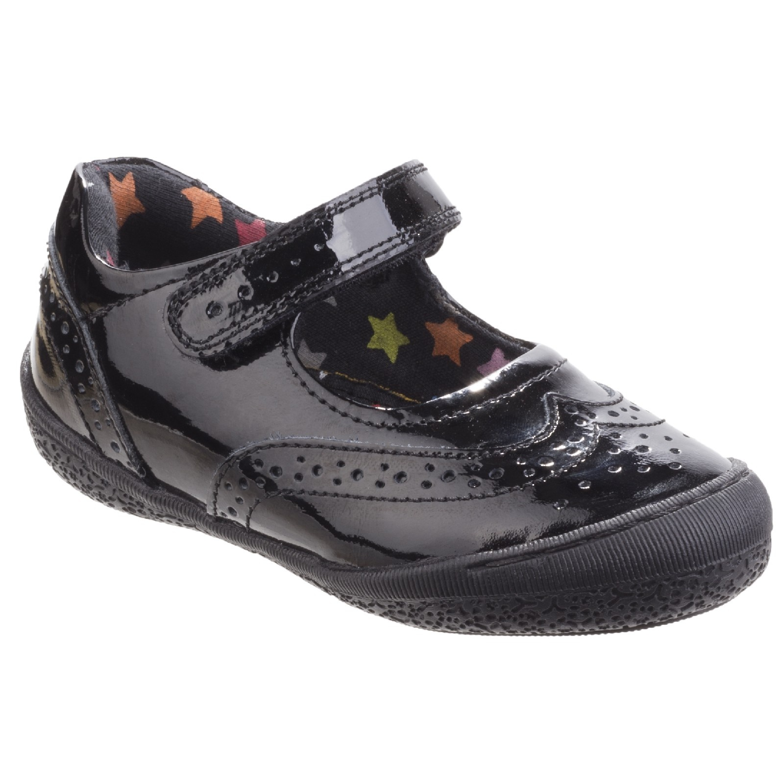 Hush Puppies Childrens Girls Rina Back To School Shoes (7.5 Child UK) (Black)