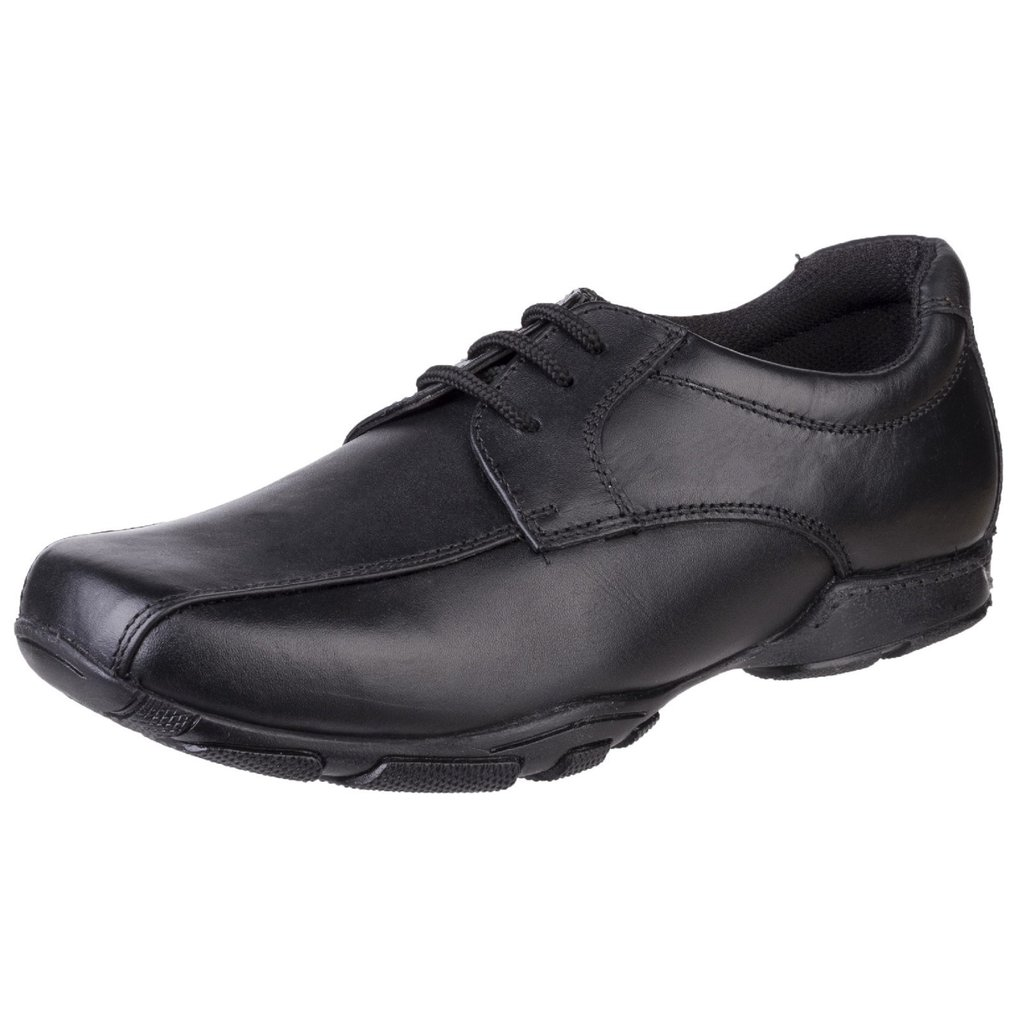 100/% Positive Reviews Hush Puppies Jezza Boys Black Leather School Shoes