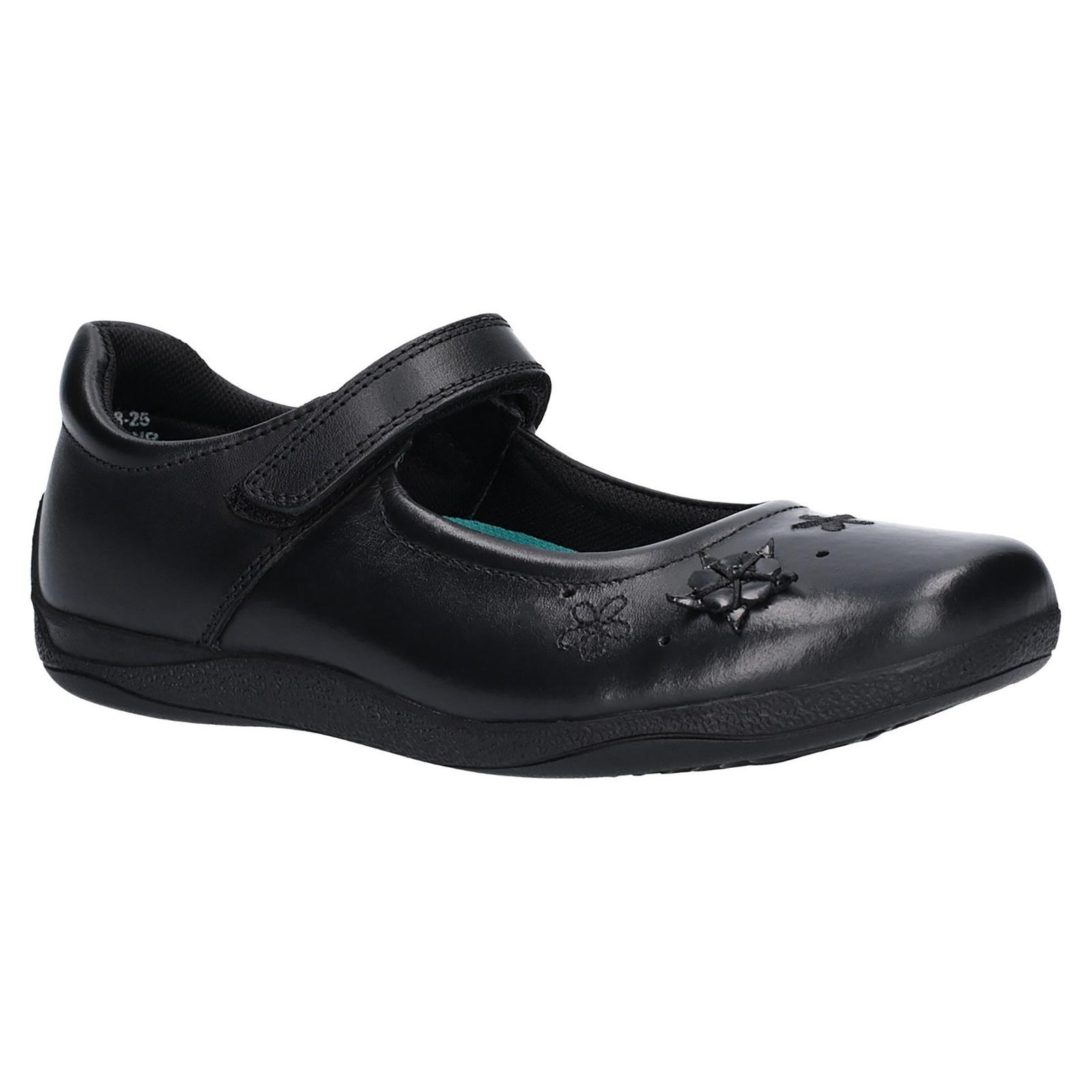 Hush Puppies Girls Candy Junior Touch Fastening Shoe (12.5 Child UK) (Black)
