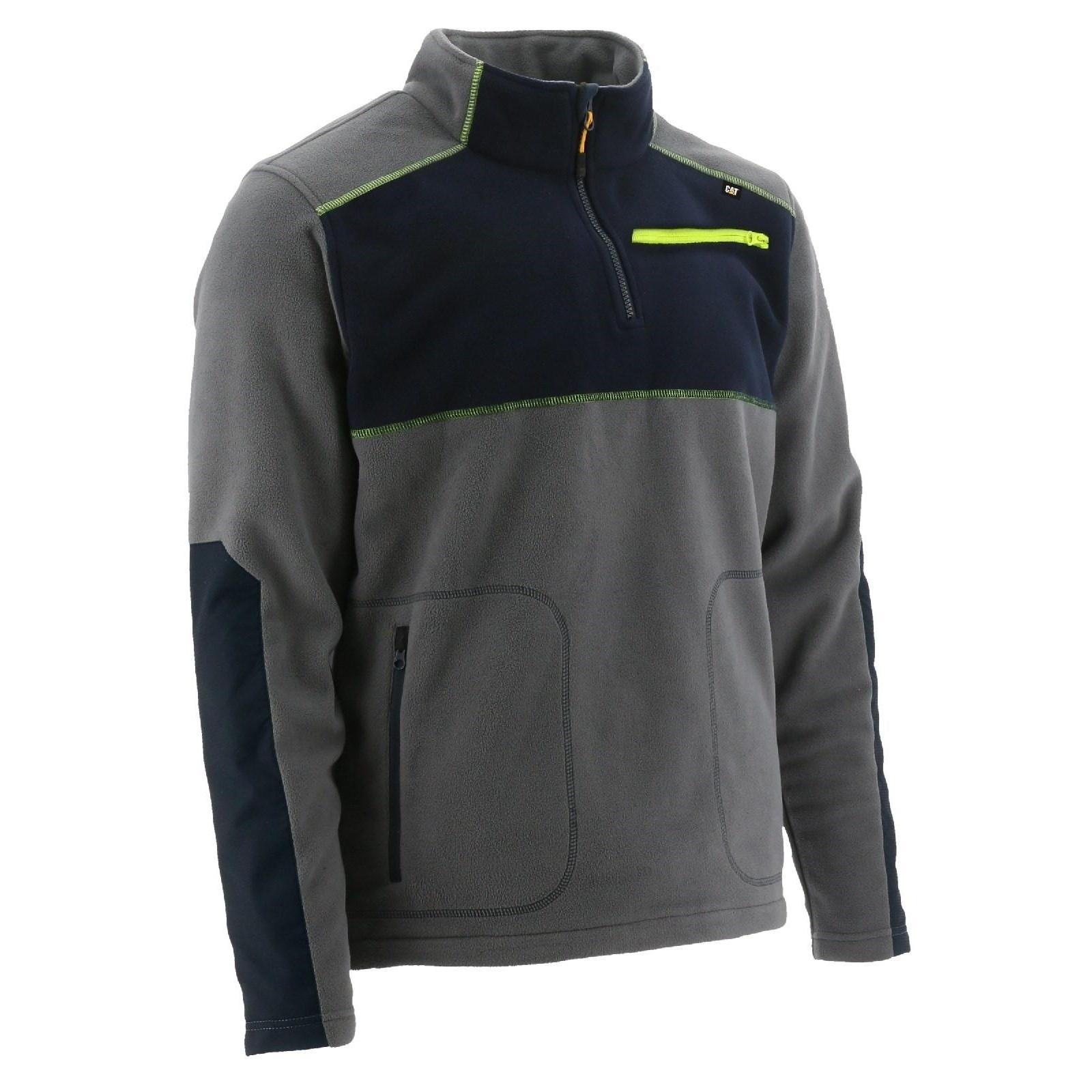 Caterpillar Mens Argo Quarter Zip Fleece Jacket (L) (Dark Shadow)