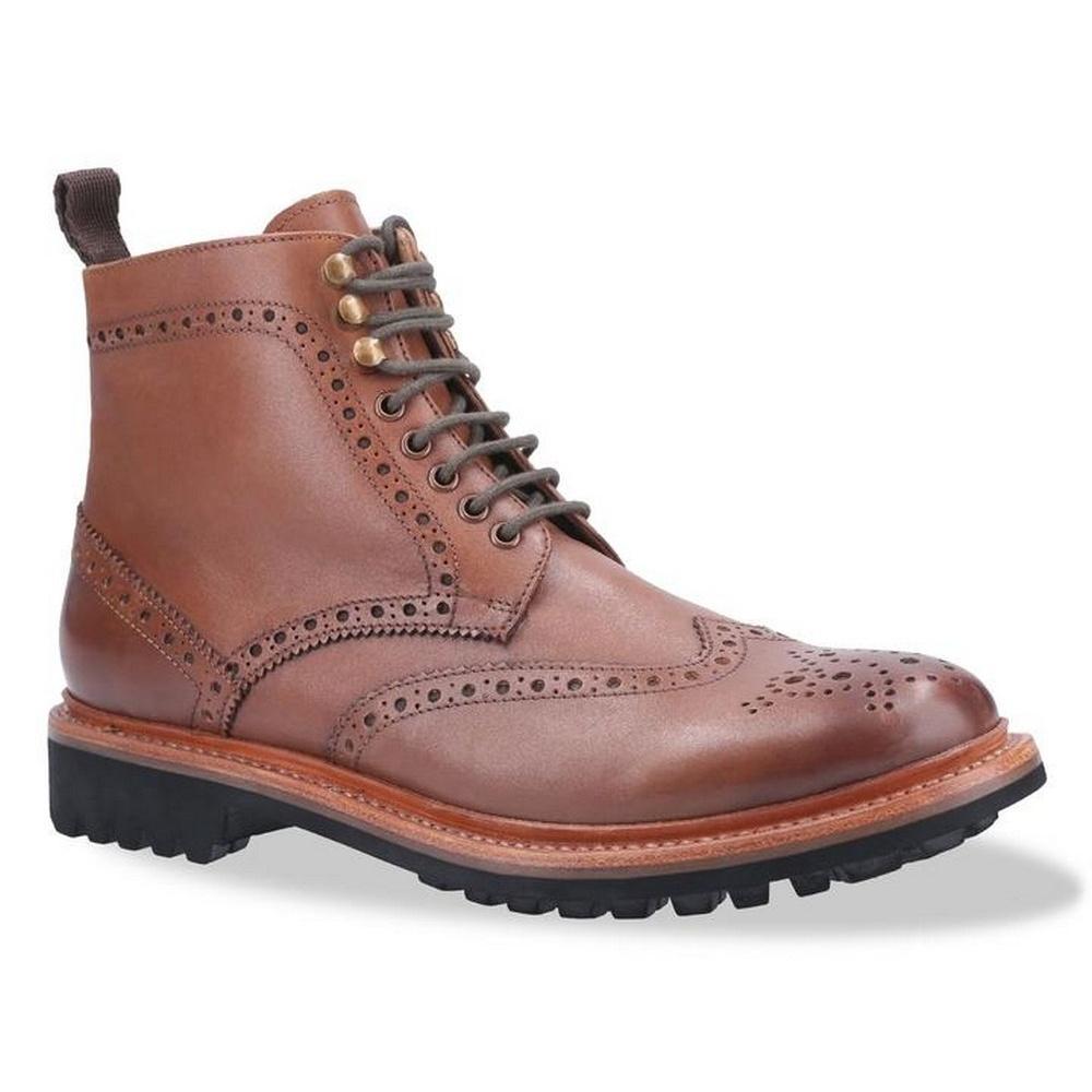 Cotswold Mens Rissington Commando Lace Up Leather Dress Boot (11 UK) (Brown)