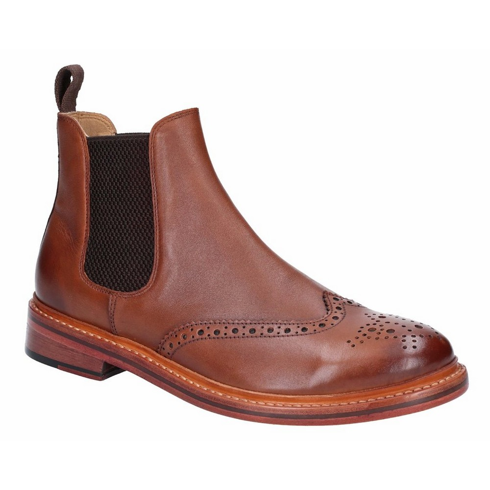 Cotwold Mens Siddington Leather Elasticated Dress Boot (11 UK) (Brown)