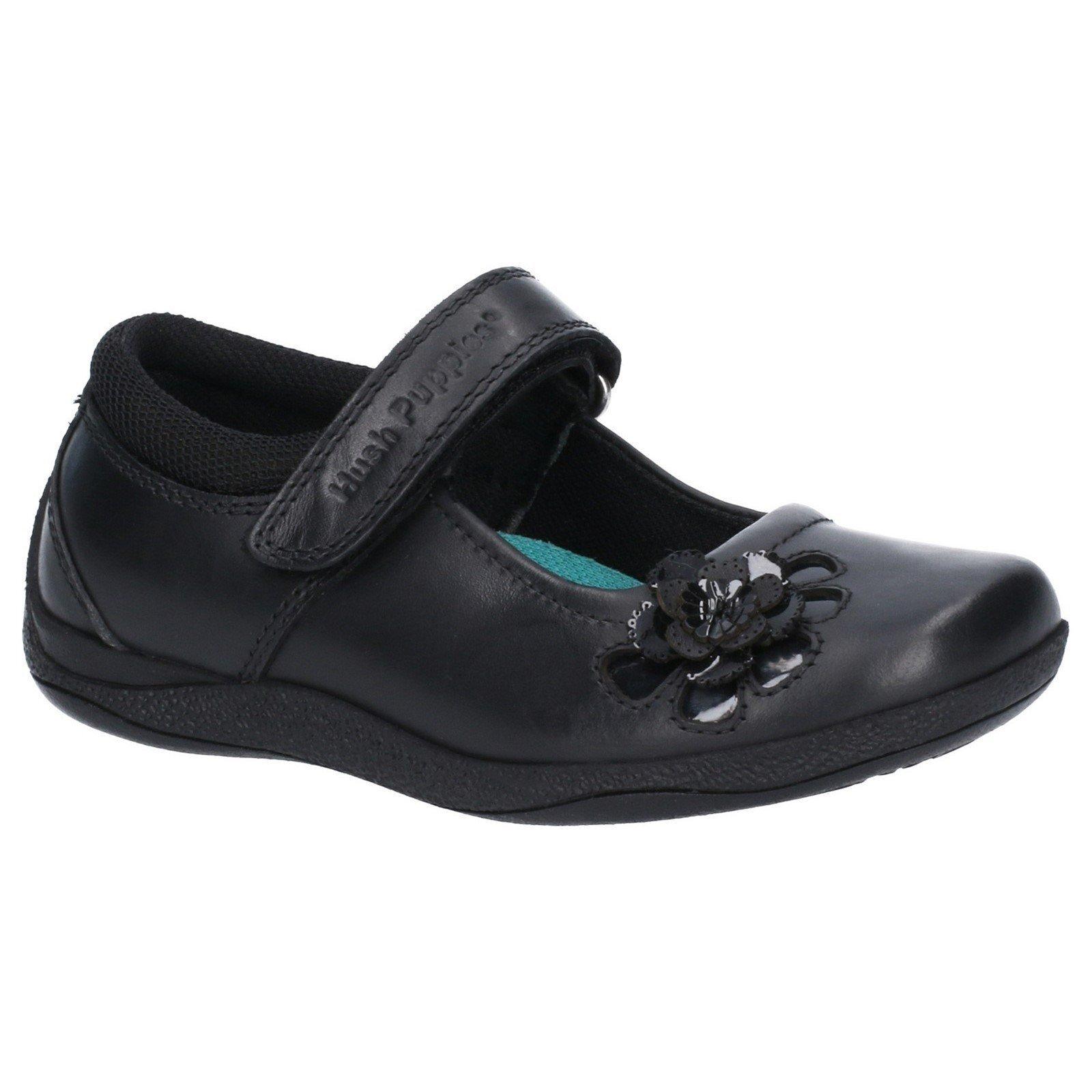 Hush Puppies Girls Jessica Patent Leather School Shoe (6.5 UK Child) (Black)