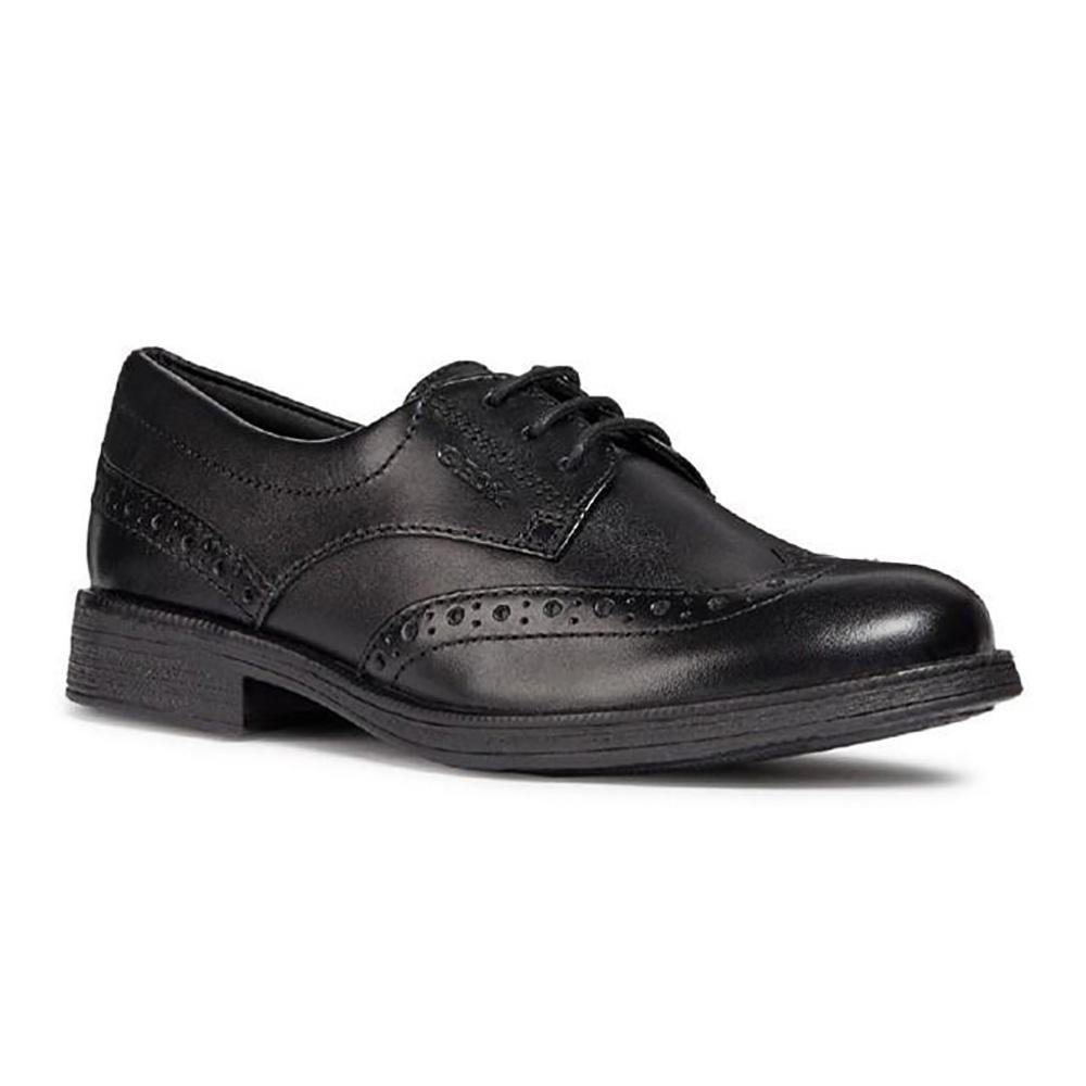 Geox Girls Agata Patent Leather Shoes (2.5 UK Child) (Black)