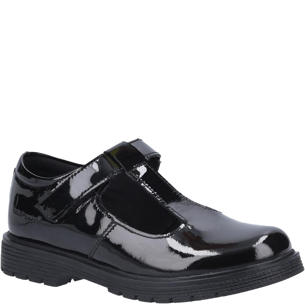 Hush Puppies Girls Gracie Leather School Shoes (11 UK Child) (Black)