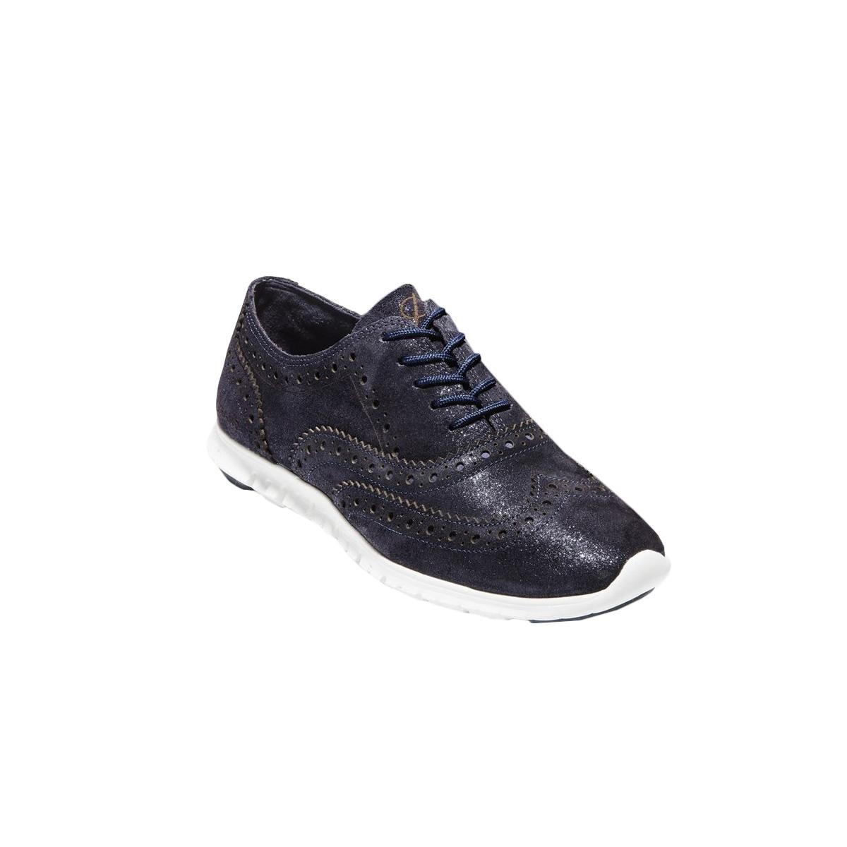 Cole Haan Womens/Ladies Zerogrand Wingtip Oxford Shoes (3 UK) (Dark Navy/White)