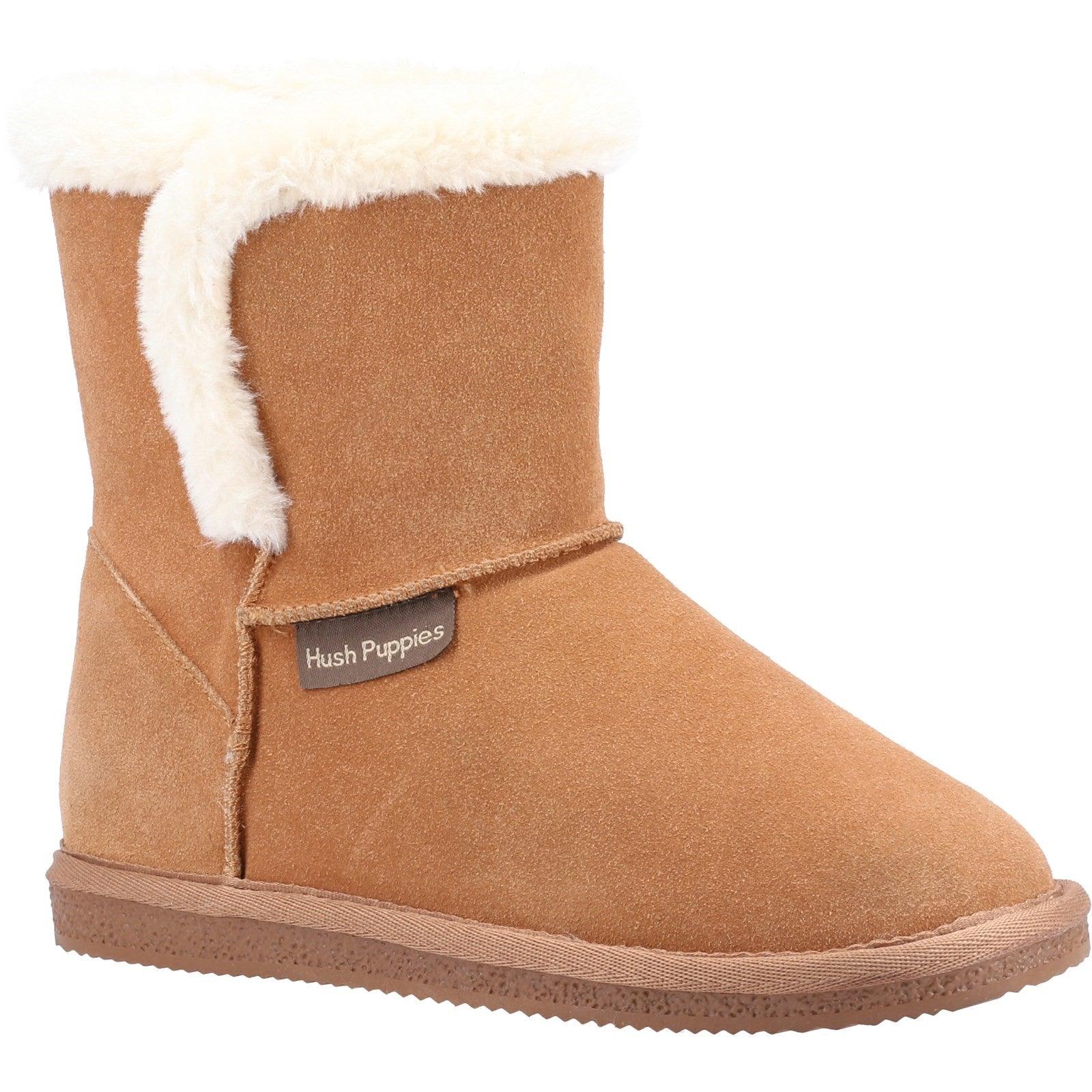 Skechers Womens/Ladies Ashleigh Suede Slipper Boots (3 UK) (Rose)