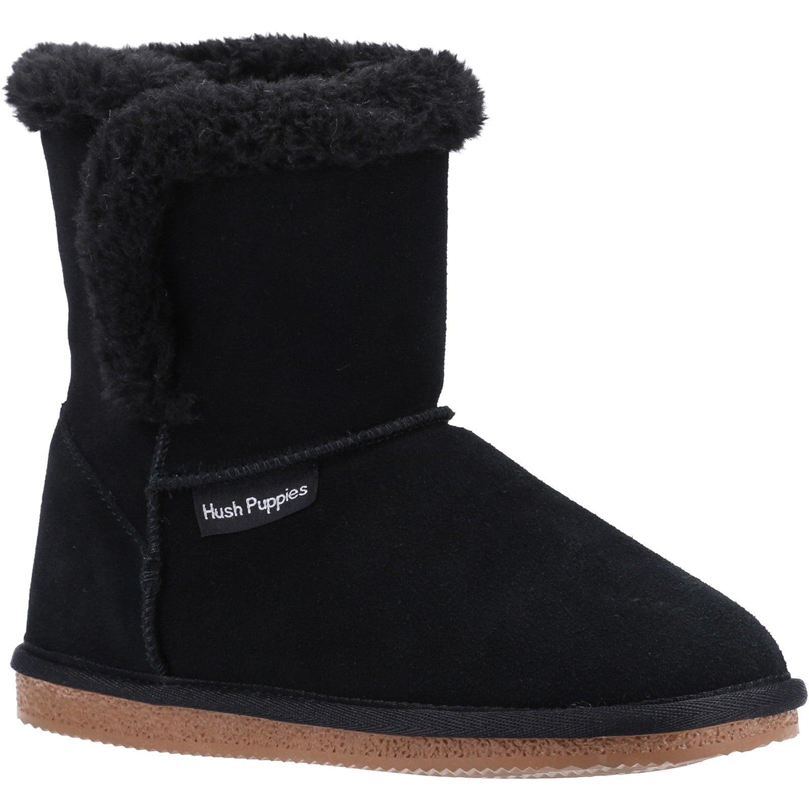 Skechers Womens/Ladies Ashleigh Suede Slipper Boots (3 UK) (Black)