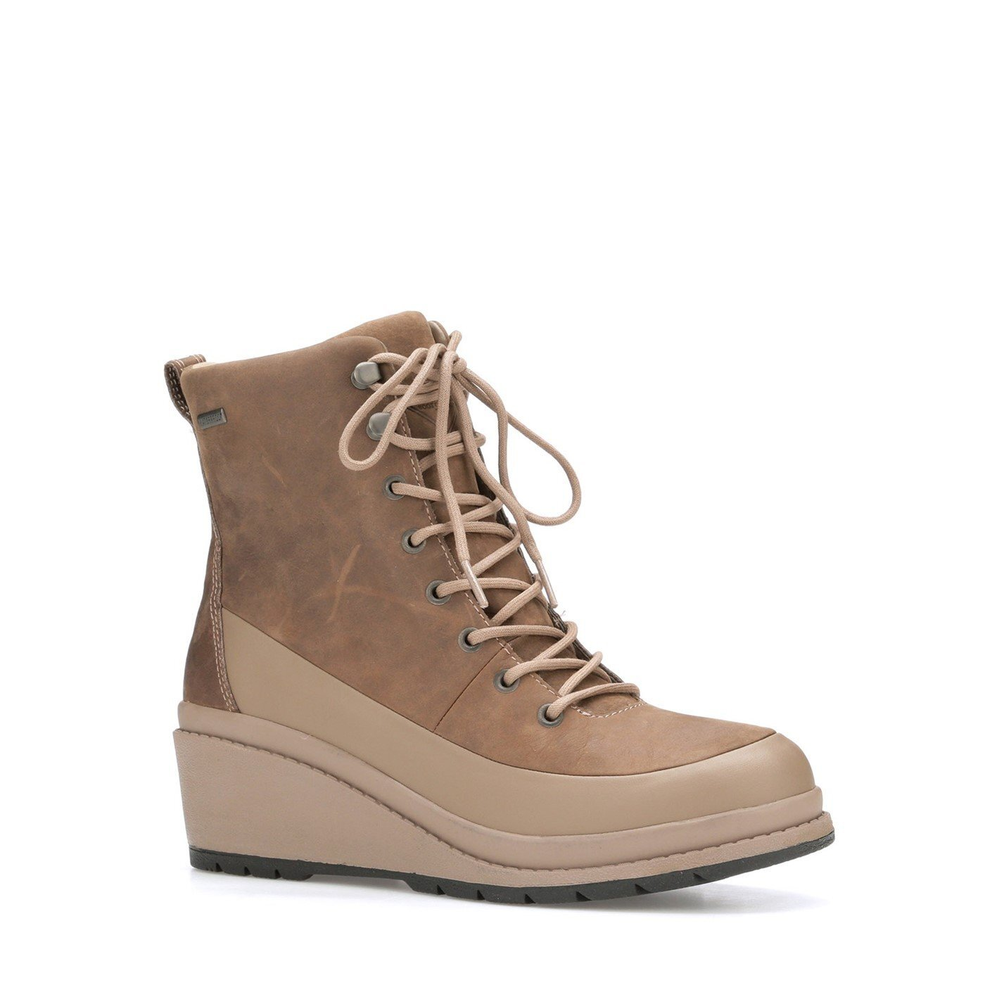 Muck Boots Womens/Ladies Liberty Leather Wedge Ankle Boots (7.5 UK) (Taupe)