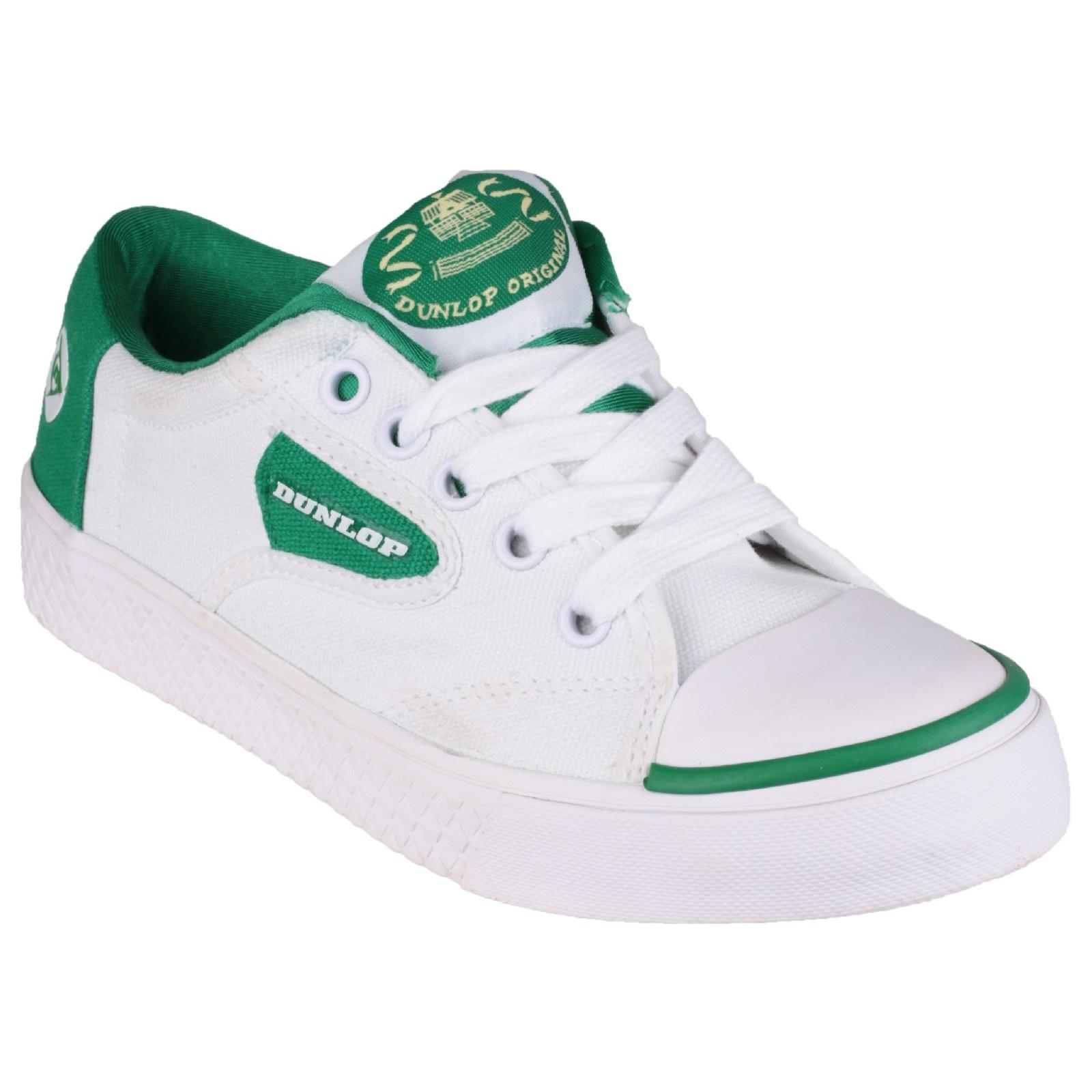 Dunlop Green Flash DU1555 Non-Marking Trainer / Boys Trainers / Unisex Sports (13 UK Junior) (White)