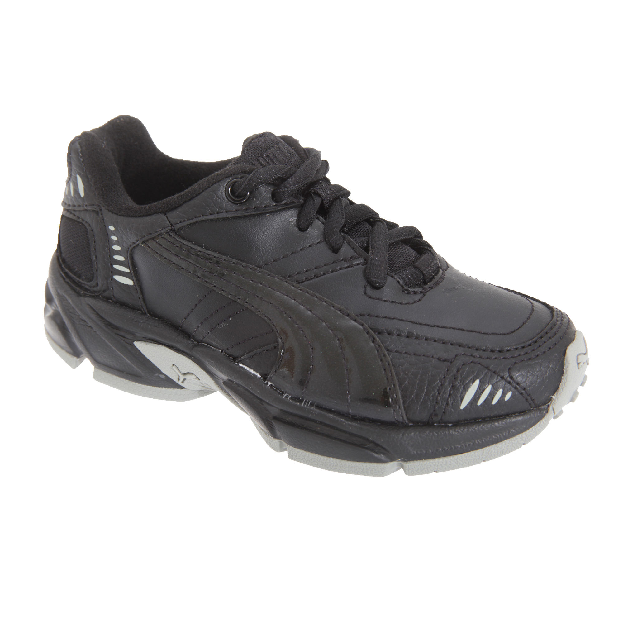 Puma Axis/Hahmer Junior Lace Non-Marking Trainer / Boys Trainers / Unisex Sports (13 UK Junior) (Black)