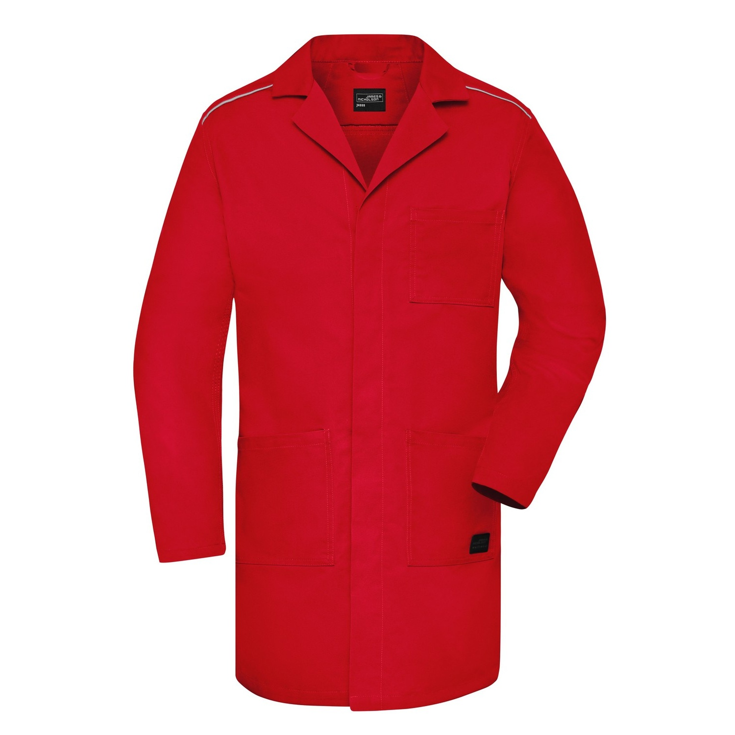 James and Nicholson Adults Unisex Work Coat (M) (Red)