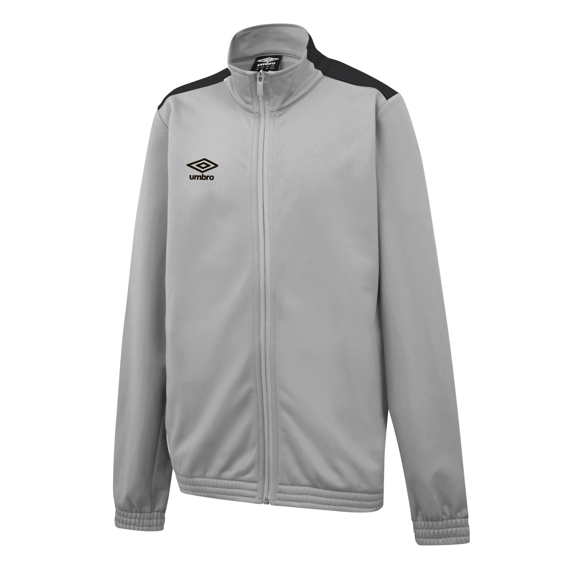 Umbro Mens Knitted Jacket (L) (High Rise Grey/Carbon Grey)