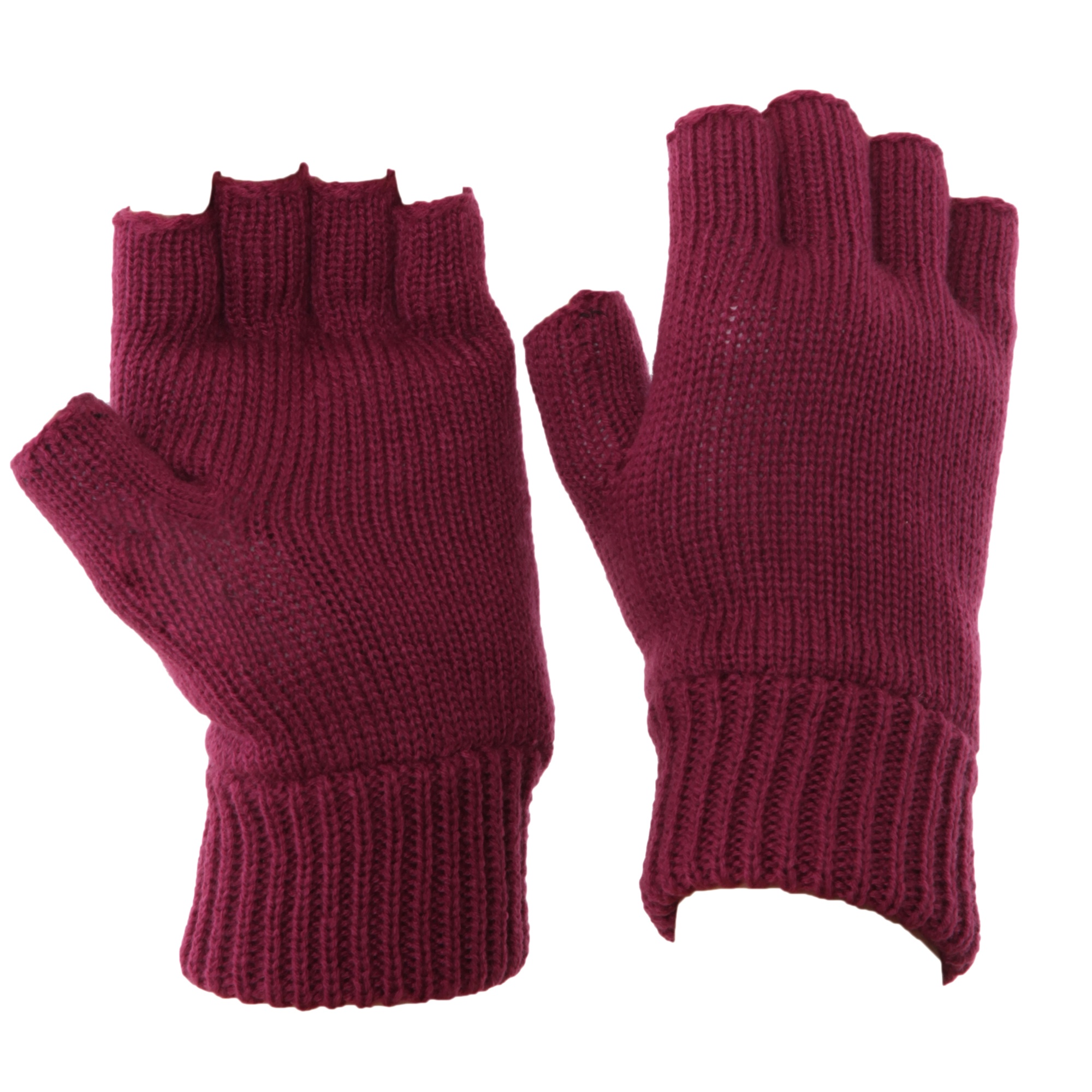 FLOSO-Ladies-Womens-Thinsulate-Thermal-Fingerless-Winter-Gloves-3M40g-GL191 thumbnail 4