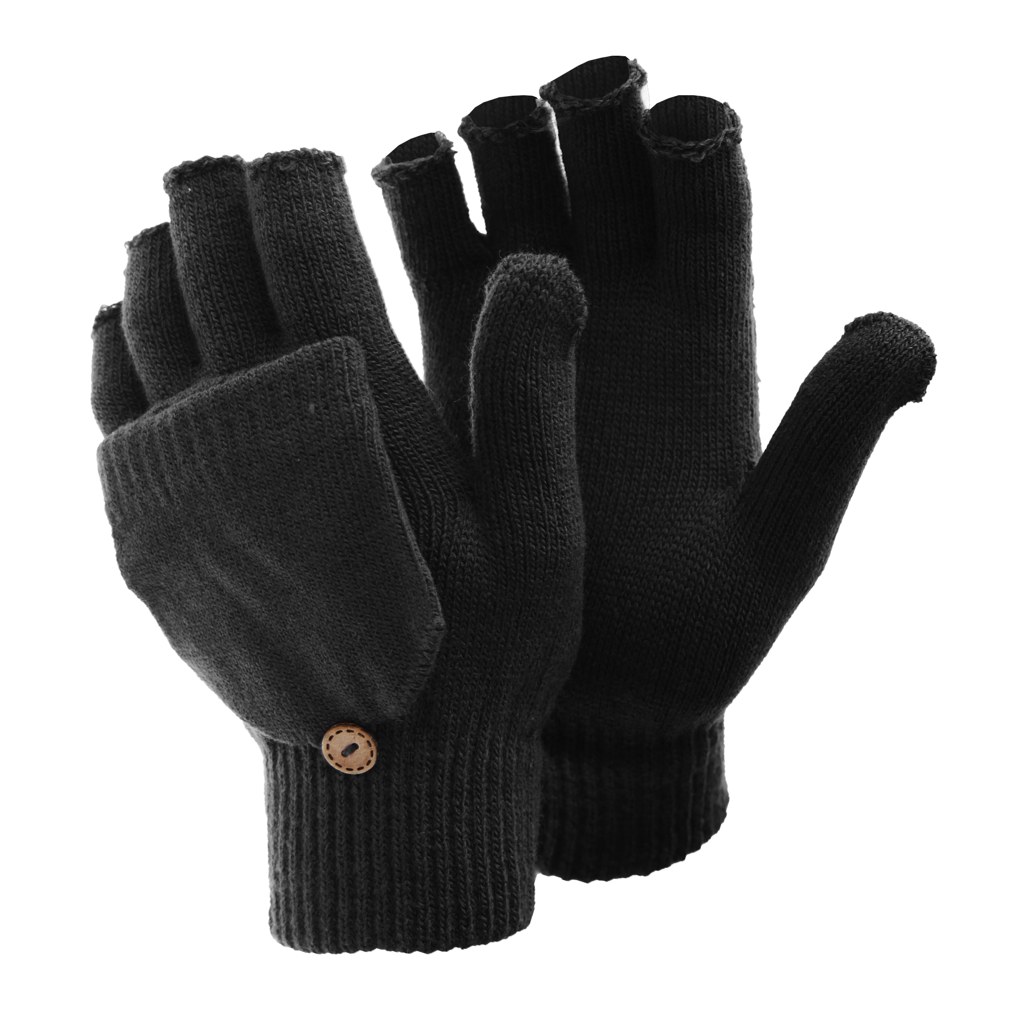 FLOSO Womens /Ladies Winter Warm Casual Capped Fingerless ...