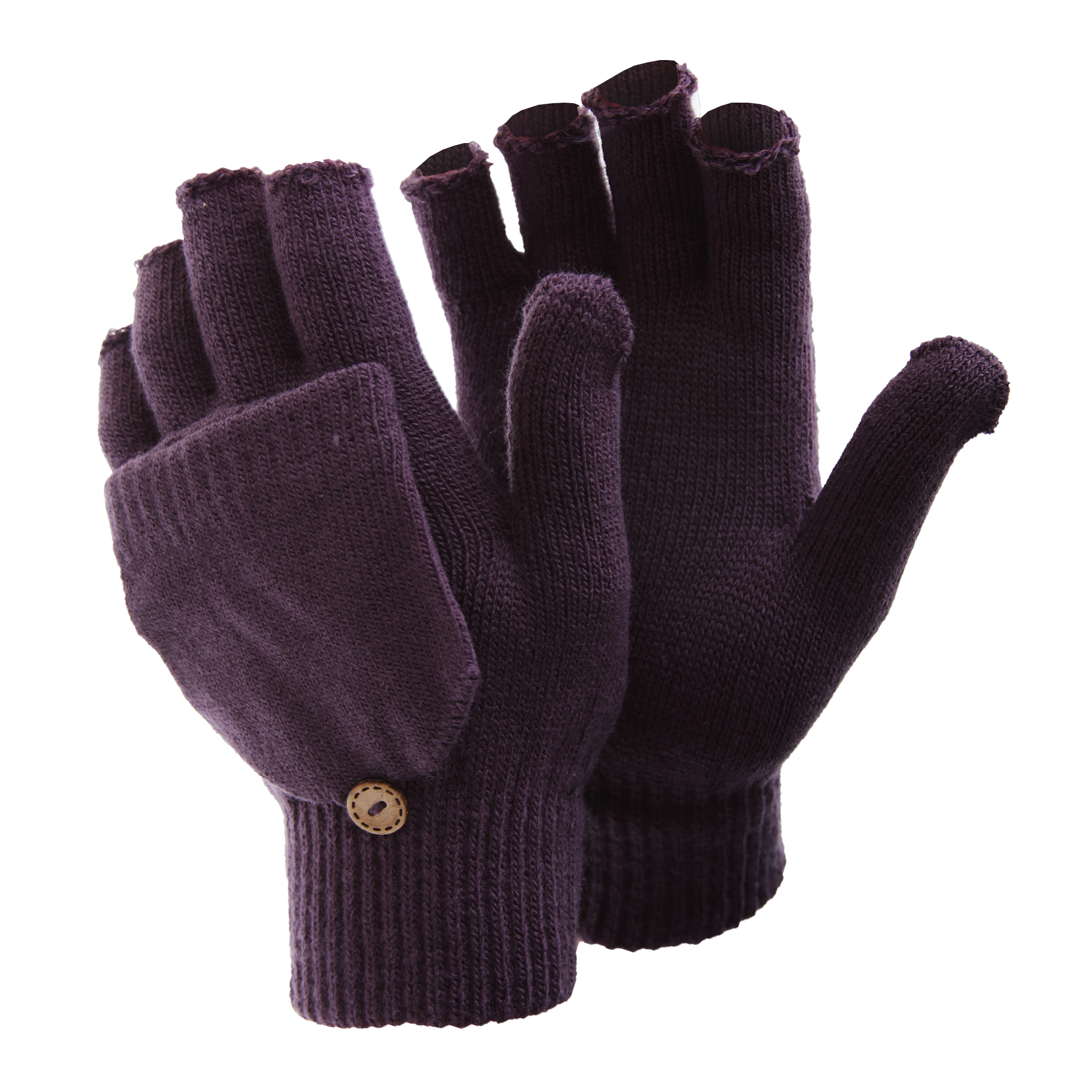 FLOSO Womens /Ladies Winter Warm Casual Capped Fingerless