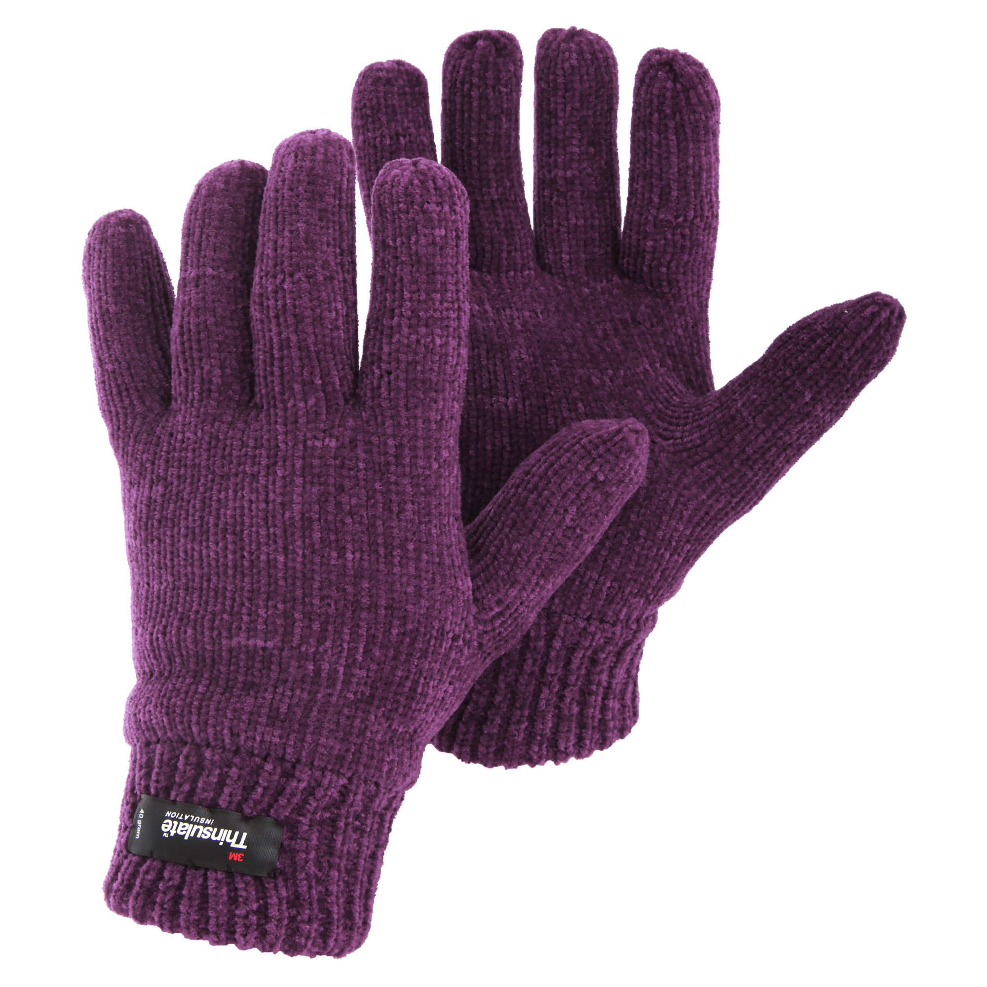 Womens/Ladies Thinsulate Thermal Chenille Knitted Winter ...
