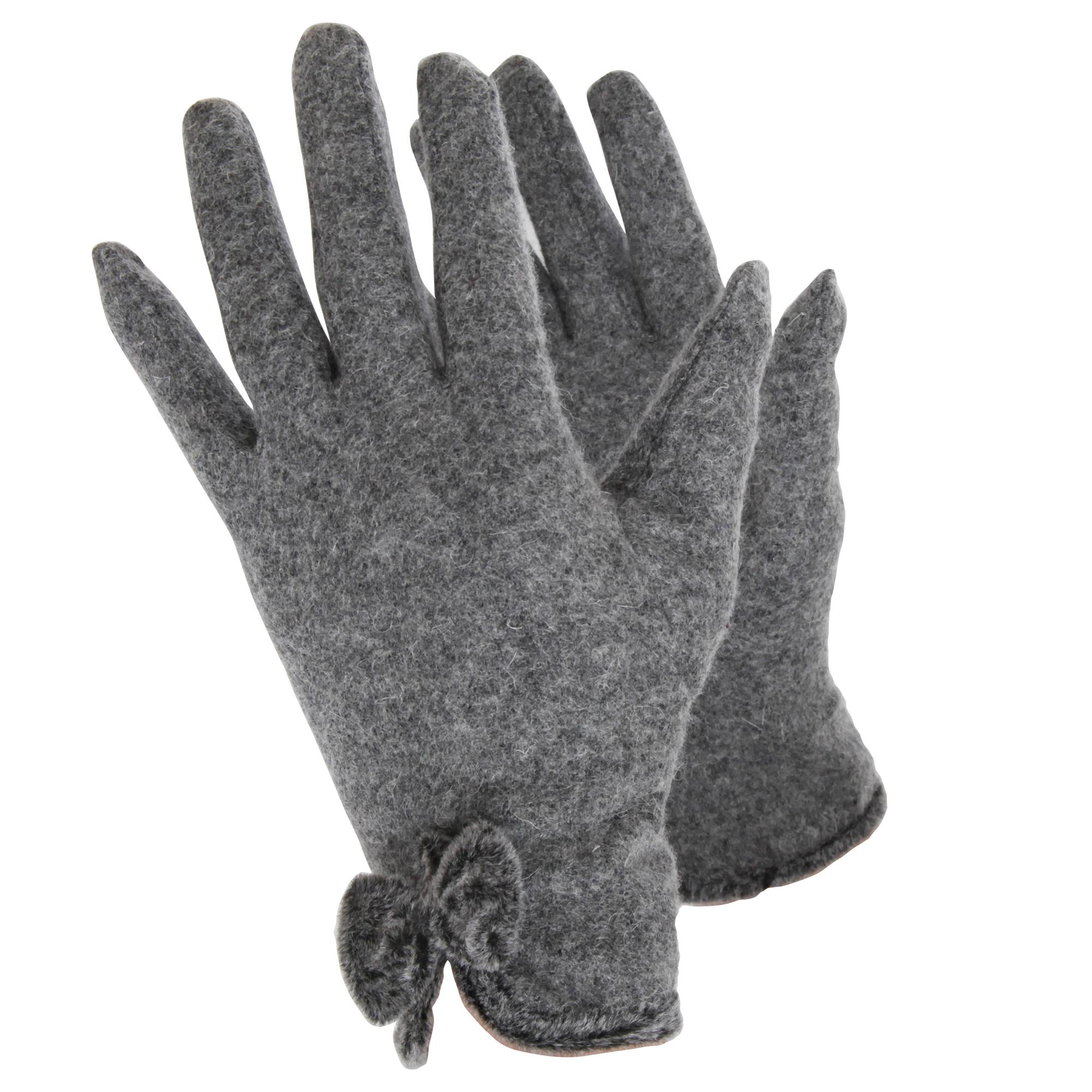 Handy Ladies/Womens Wool Rich Gloves (L) (Grey)