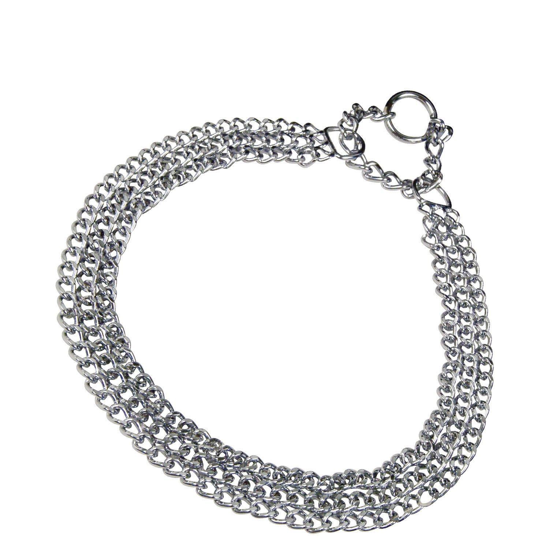 "Ancol Heritage 3 Fila Collar cadena pesada 50cm//20/"" talla 5 Negro"