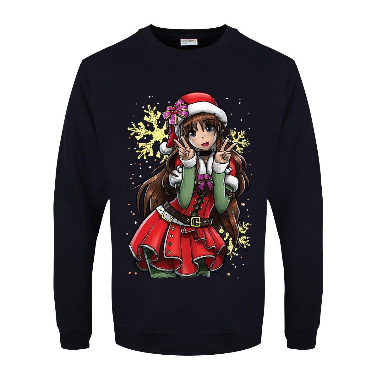 Tokyo Spirit Mens Christmas Jumper (M) (Navy)