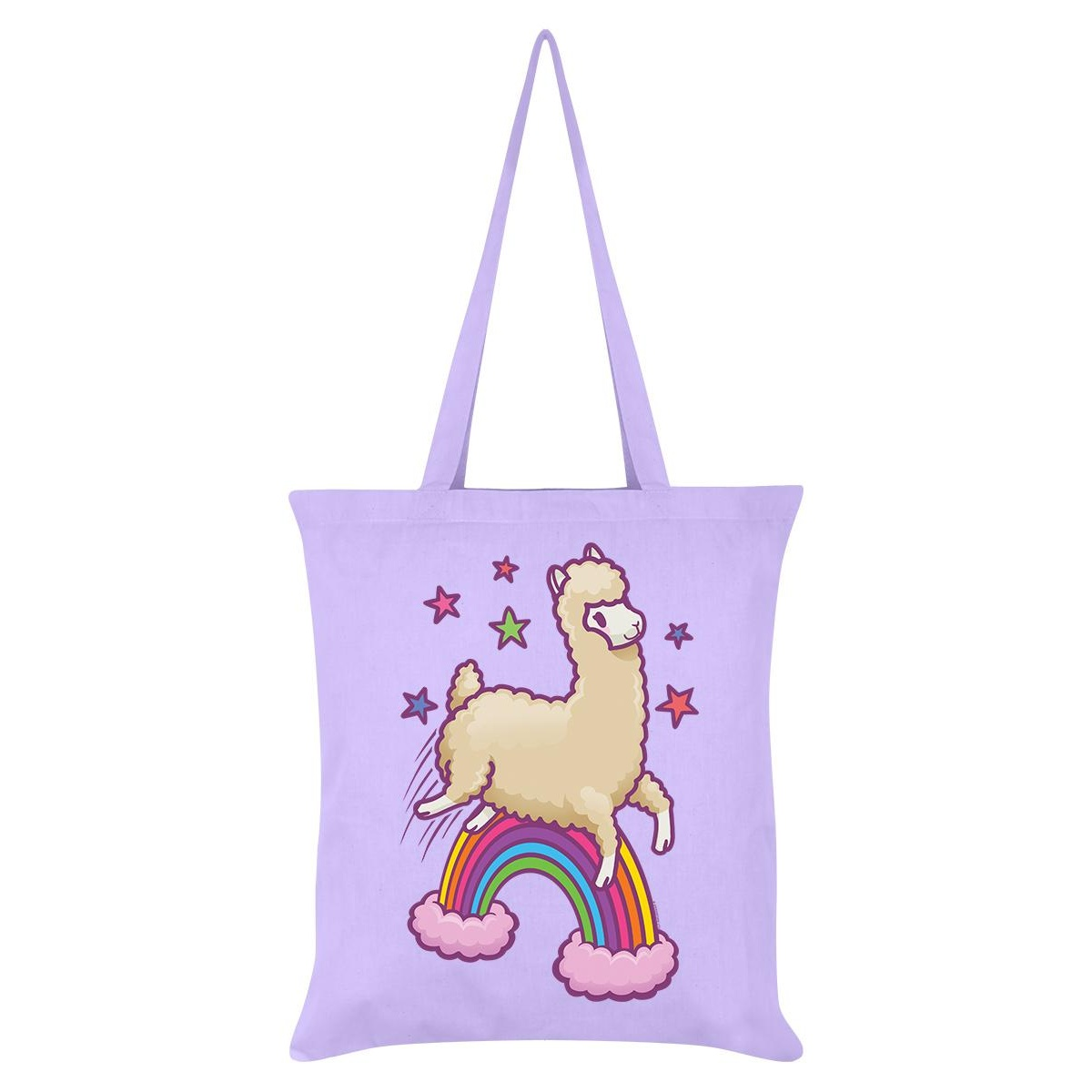 Grindstore Happy Space Llama Tote Bag (One Size) (Lilac)