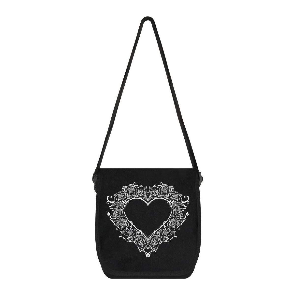 Grindstore Ebony Rose Desire Messenger Bag (One Size) (Black)