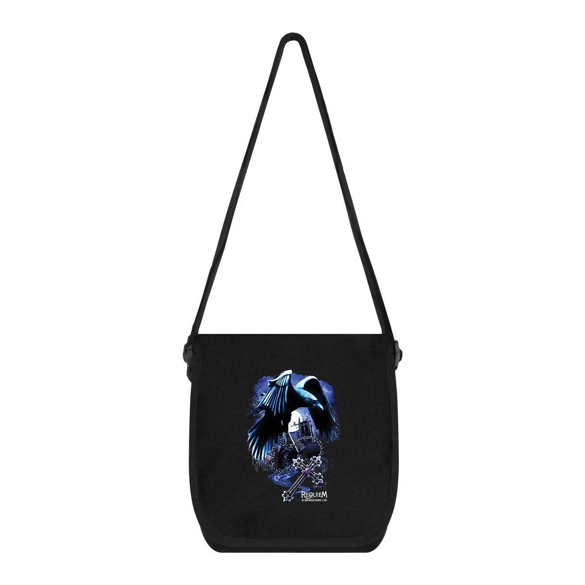 Requiem Collective Sacred Raven Messenger Bag (One Size) (Black)