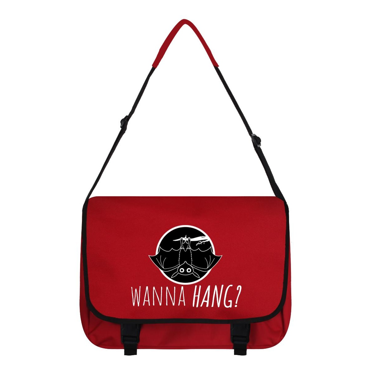 Grindstore Wanna Hang Messenger Bag (One Size) (Red/Black)