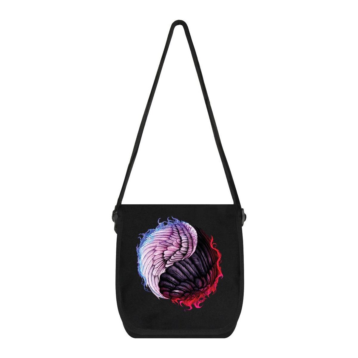 Unorthodox Collective Angelic Devil Yin Yang Messenger Bag (One Size) (Black)