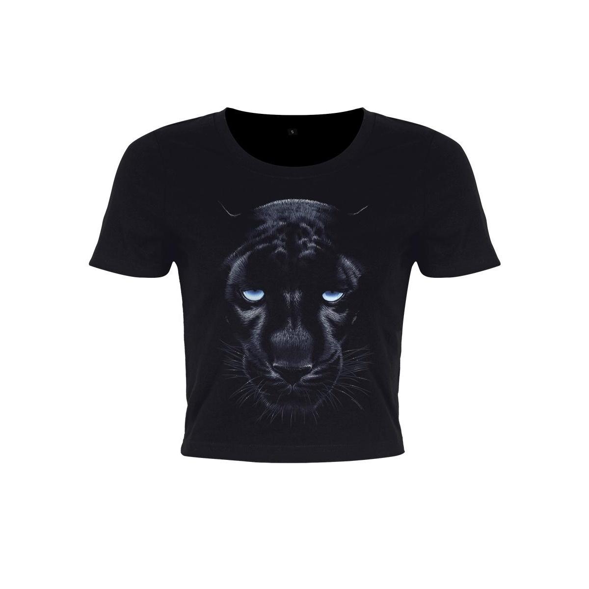 Unorthodox Collective Womens/Ladies Panther Crop Top (S) (Black)