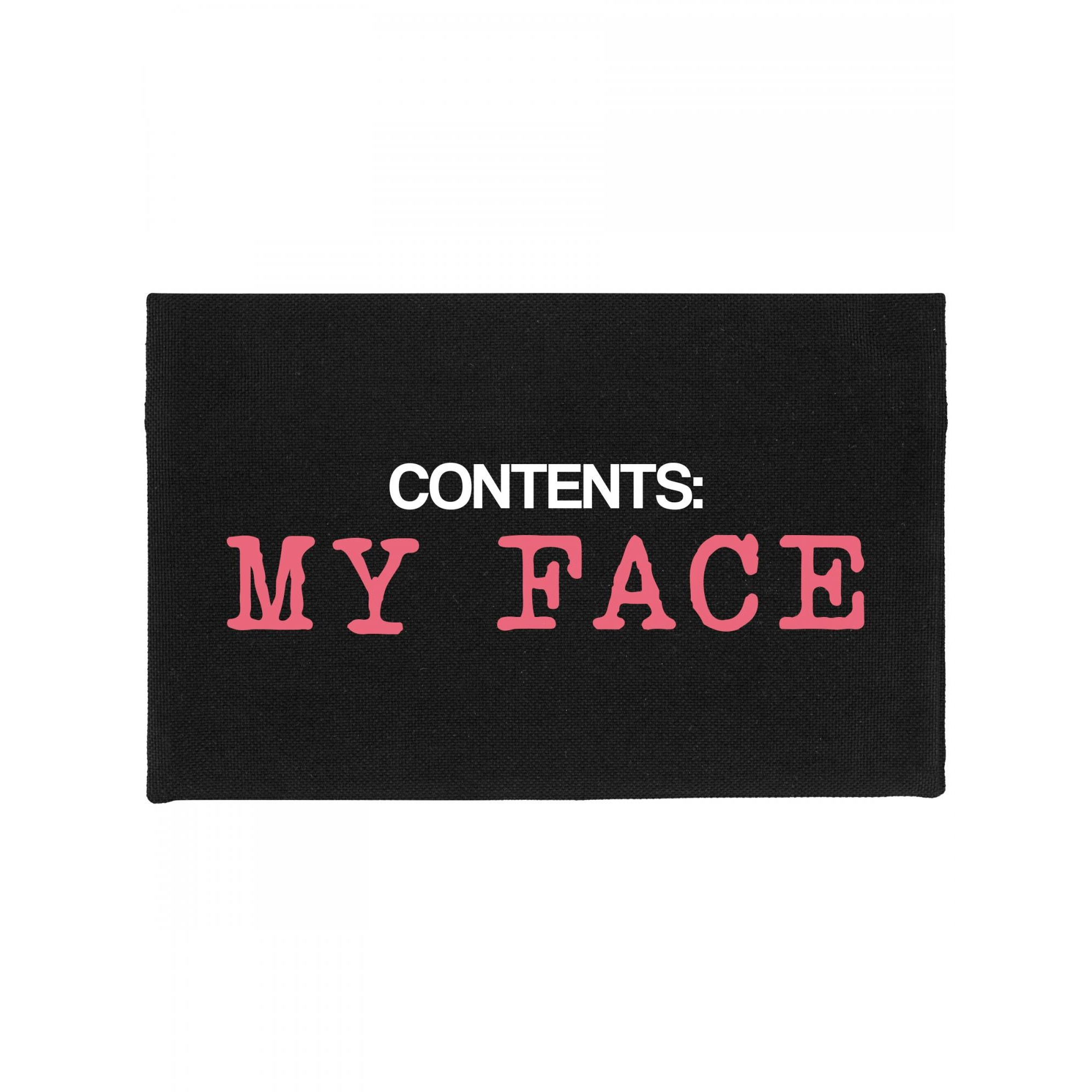 Grindstore Contents My Face Make-Up Bag (One Size) (Black)