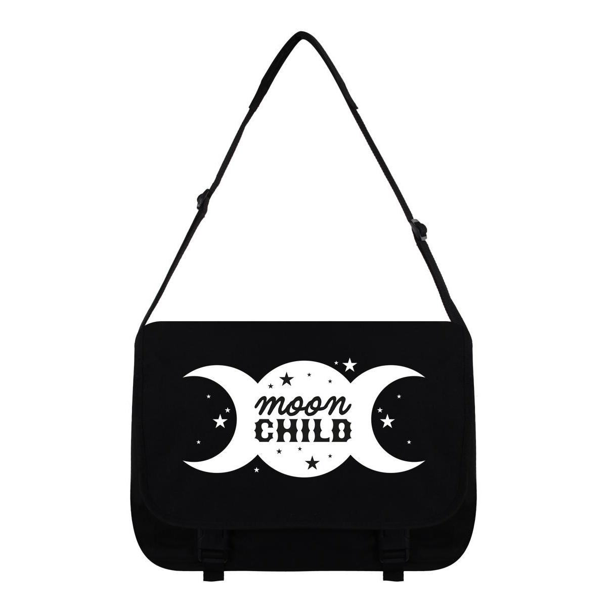 Grindstore Moon Child Messenger Bag (One Size) (Black/White)