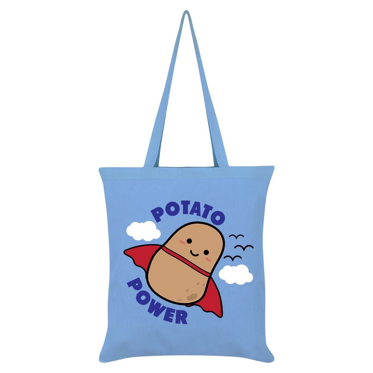 Grindstore Potato Power Tote Bag (One Size) (Sky Blue)
