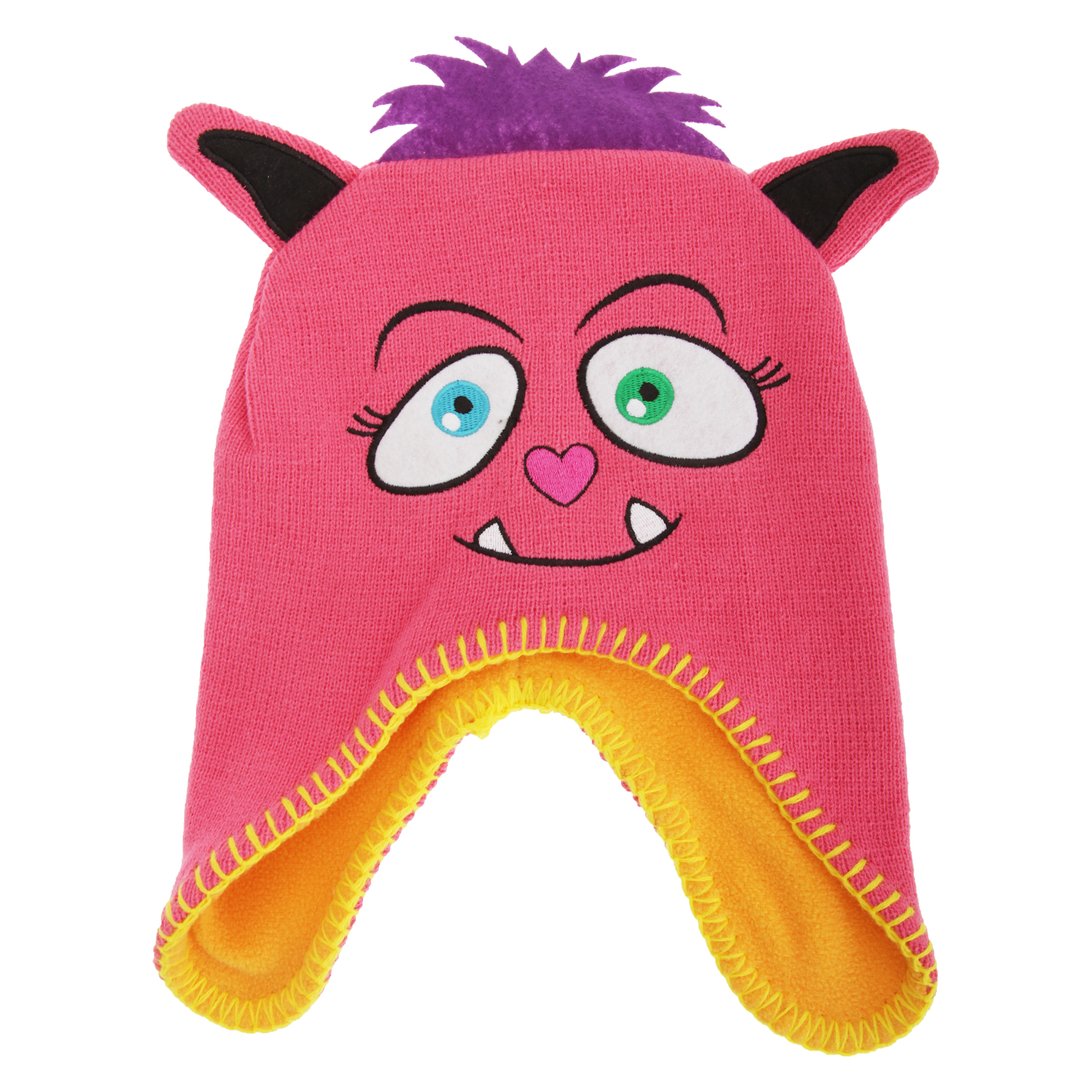 23c8600d0da1f Childrens  Kids Girls Monster Design Thermal Peruvian Warm Winter Hat   Beanie