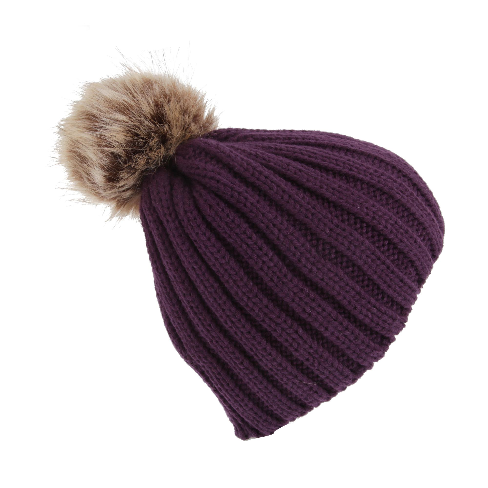 Bonnet-tricote-a-pompon-Fille-HA513