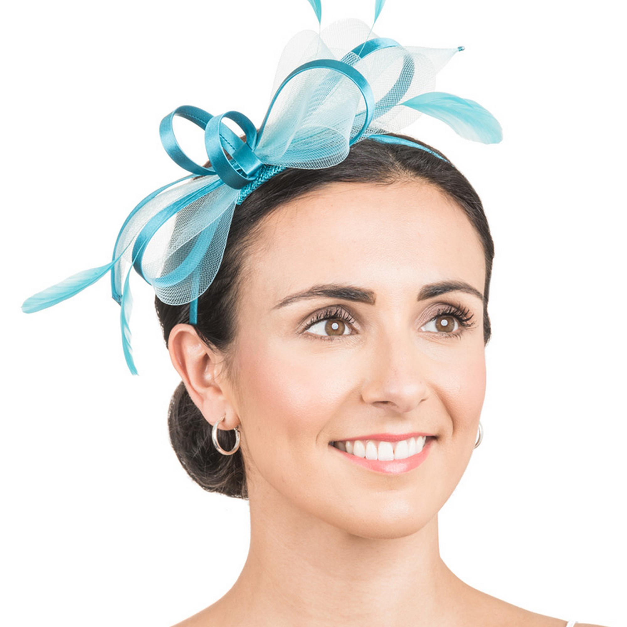 Hawkins Collection Womens/Ladies Net Bow Fascinator (One Size) (Tuquoise)