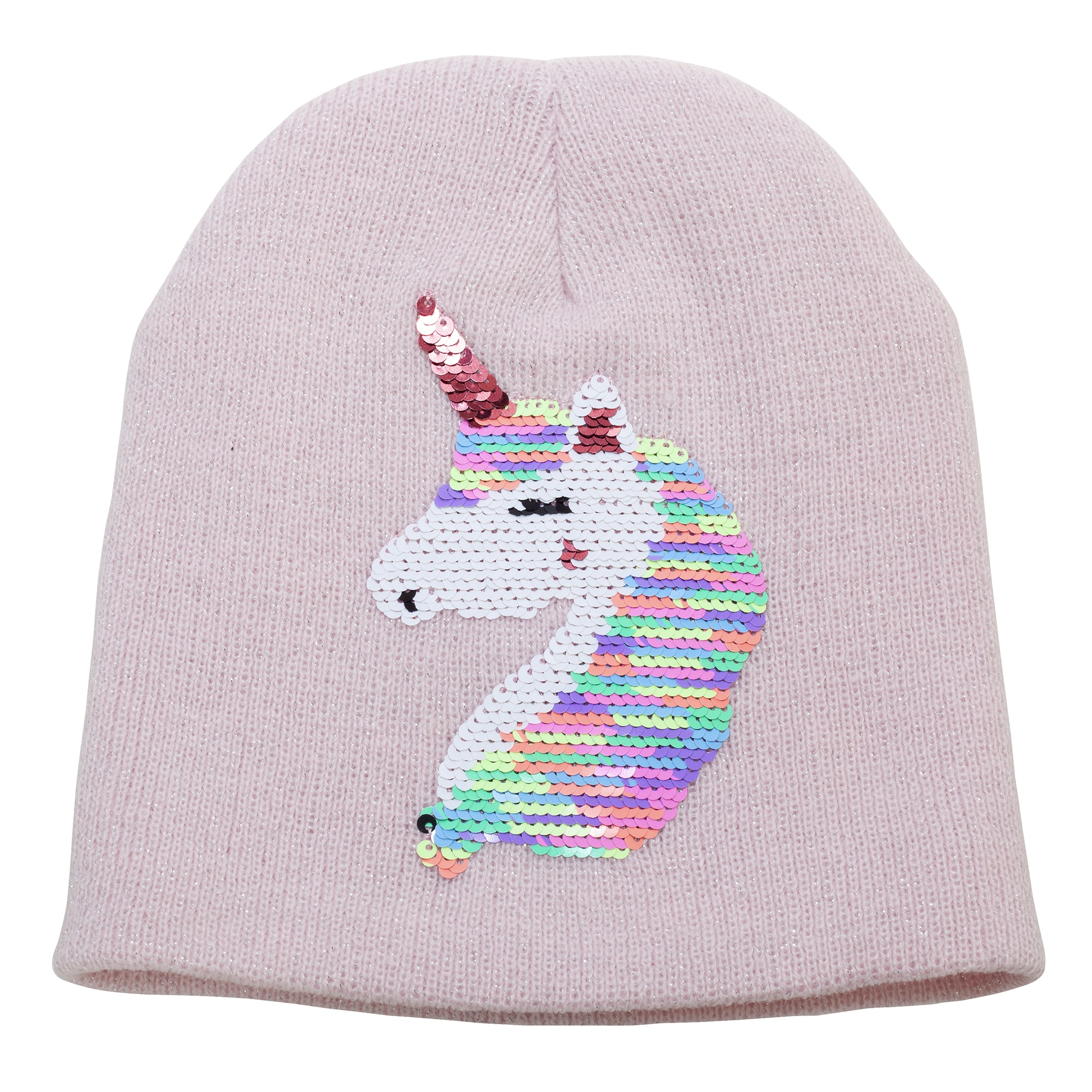 Childrens-Girls-Reversible-Unicorn-Sequins-Beanie-Hat-HA643 thumbnail 5