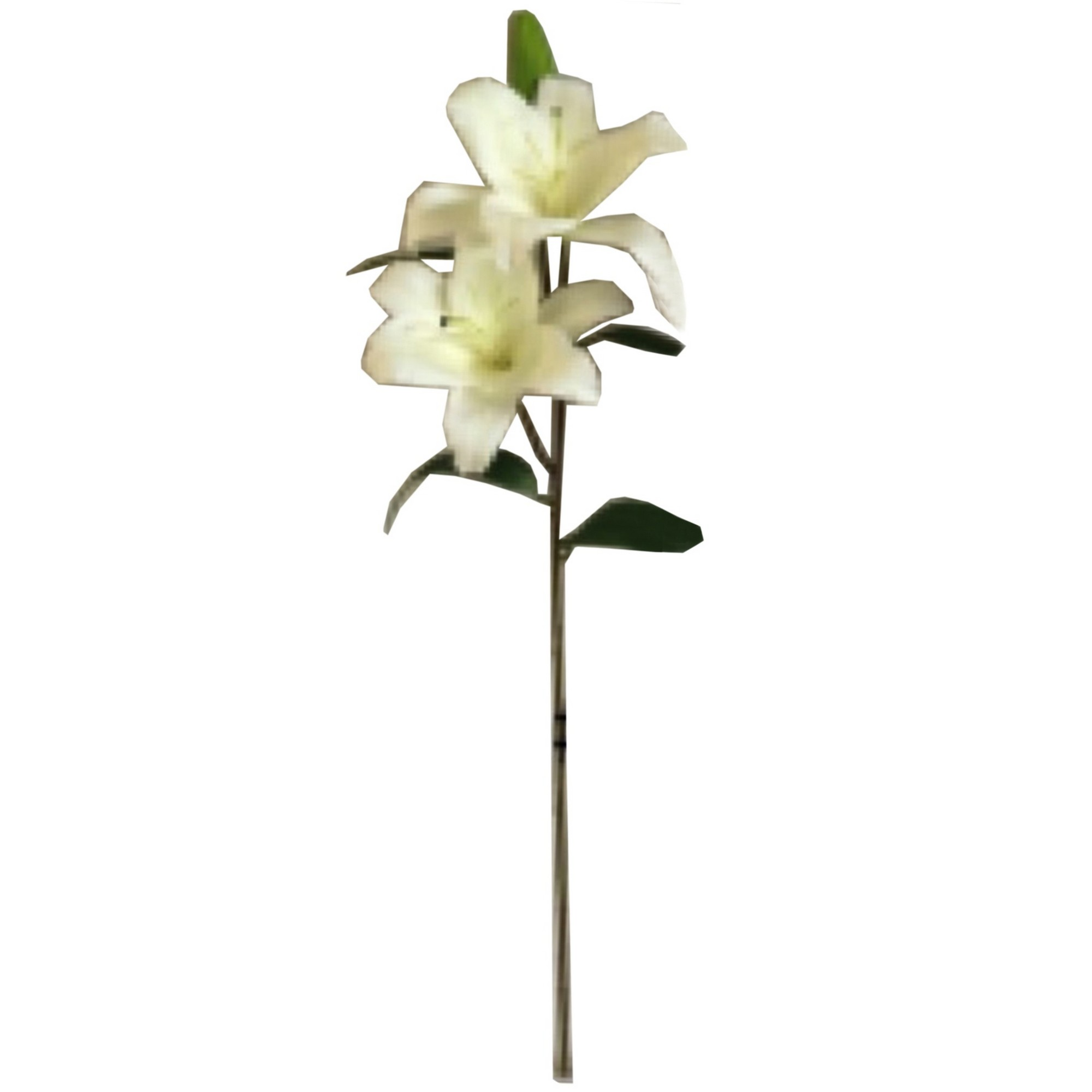 Hill interiors single artificial white lily flower stem ebay hill interiors single artificial white lily flower stem hi1995 izmirmasajfo