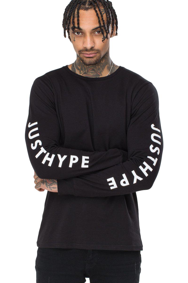 Hype Mens Justhype Long-Sleeved T-Shirt (XL) (White)