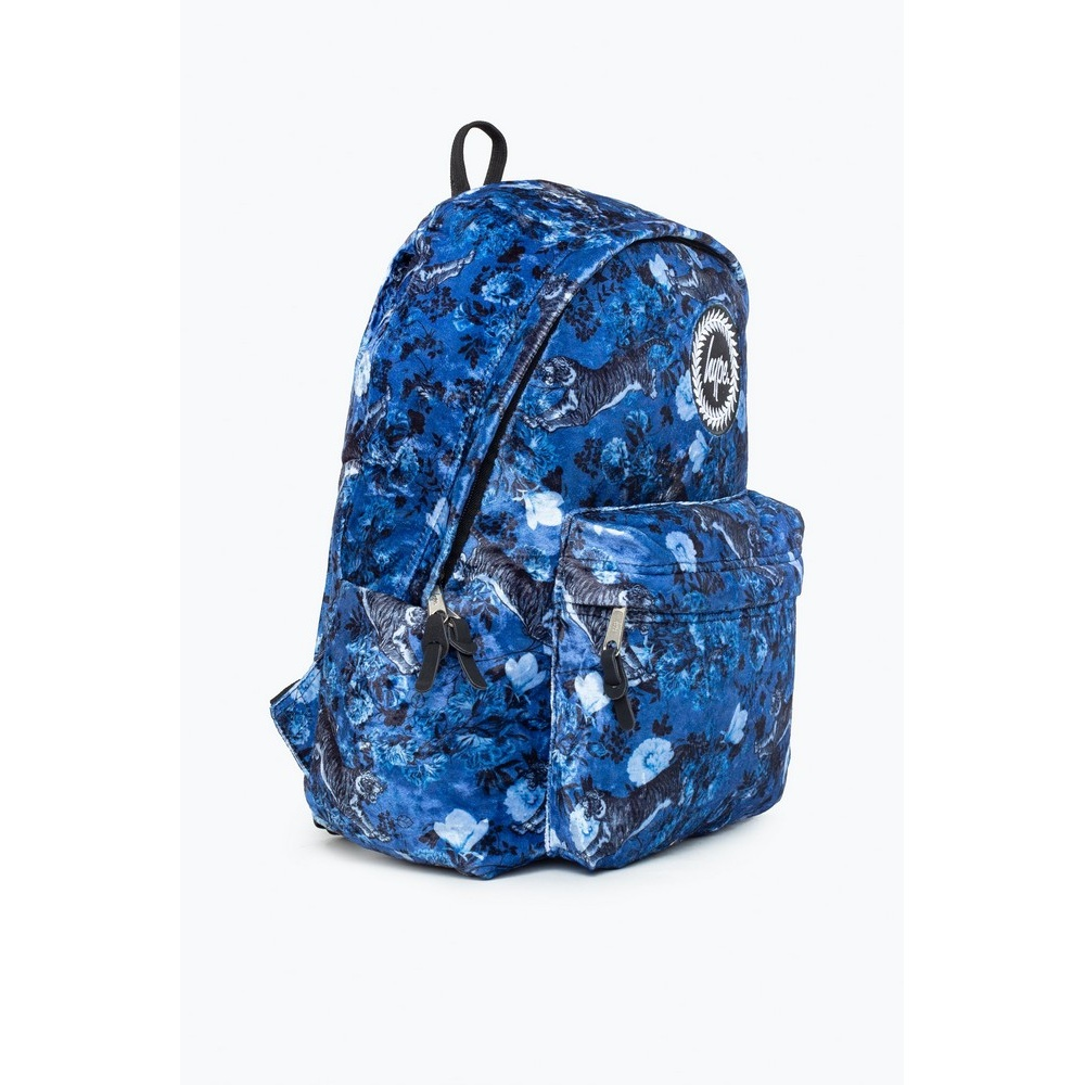 Hype Orient Floral Backpack (One Size) (Blue/Black/White)