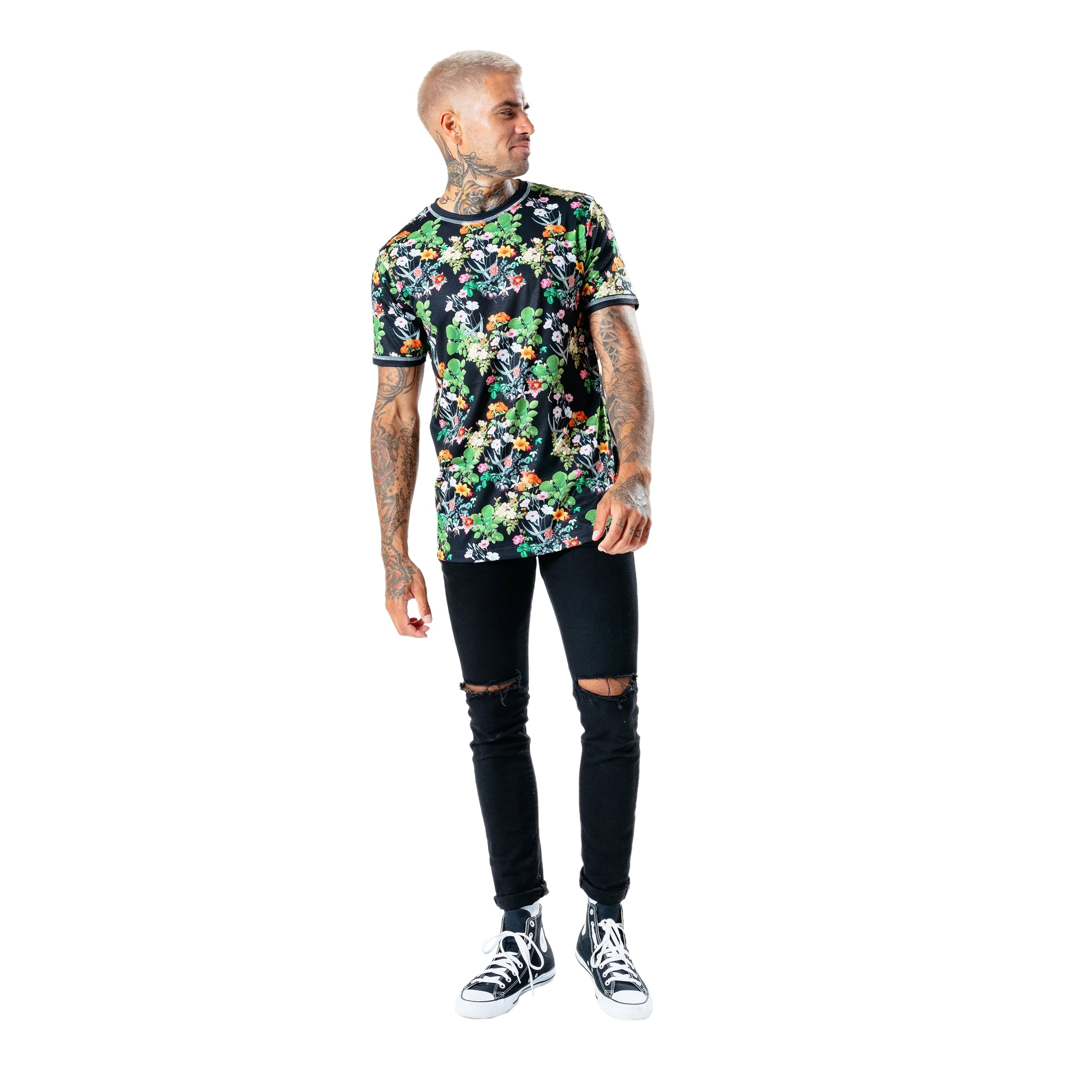 Hype Mens Ditsy Floral T-Shirt (S) (Multicoloured)