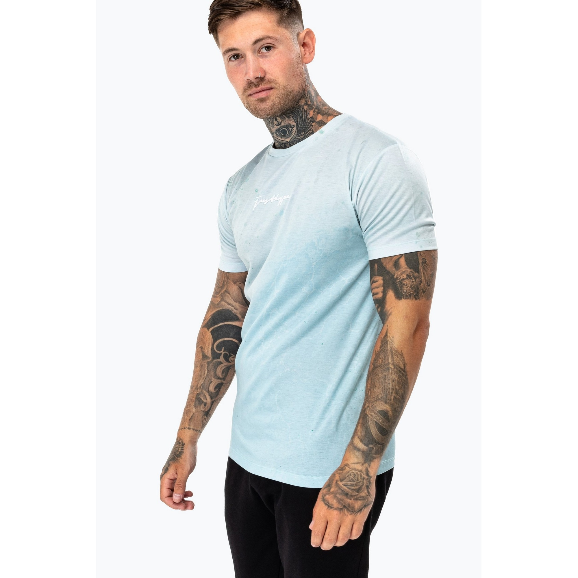 Hype Mens Cala Luna T-Shirt (M) (Light Blue)