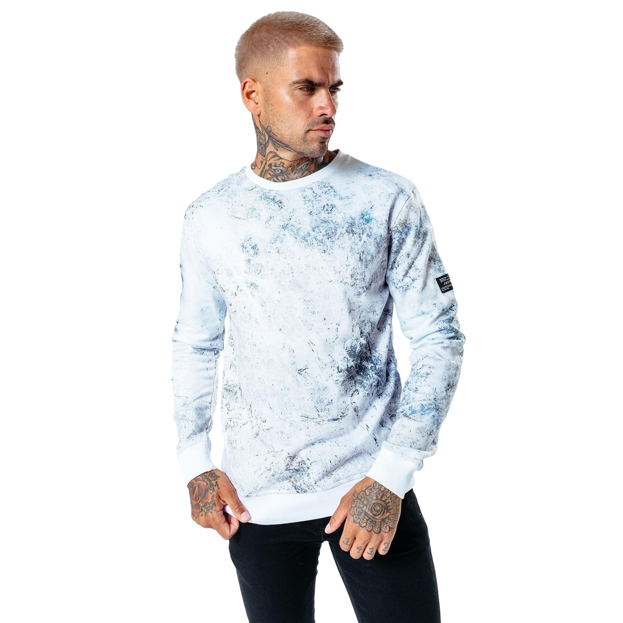 Hype Mens Marble Oversized T-Shirt (L) (White/Multicoloured)