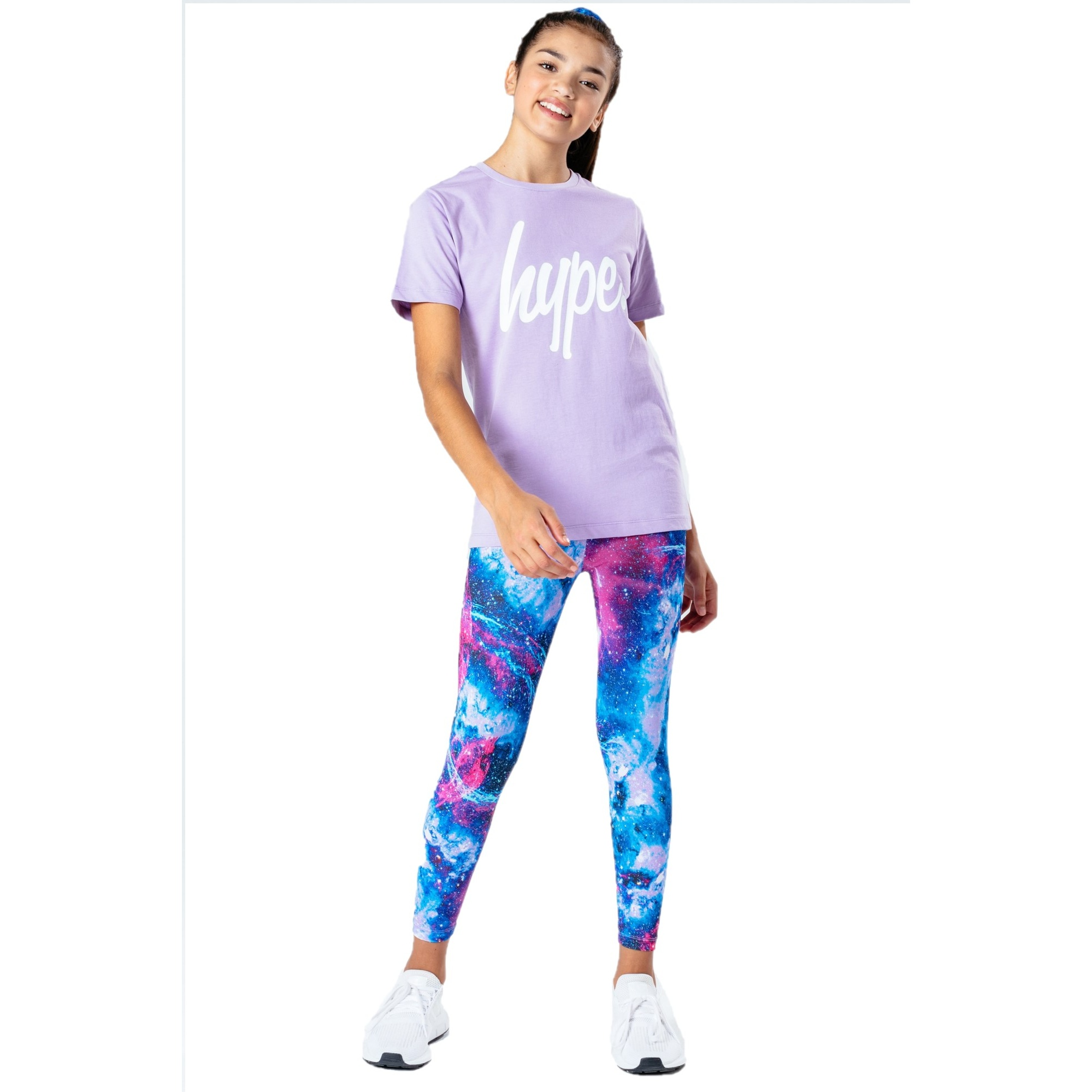 Hype Girls Cosmic T-shirt And Leggings Set (3-4 Years) (Lilac/Blue/Pink)