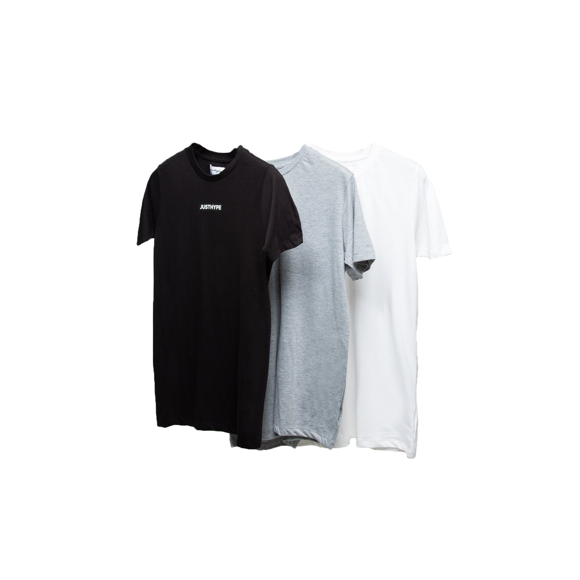 Hype Mens Monotone T-Shirt (Pack of 3) (XXL) (Black/White/Grey)