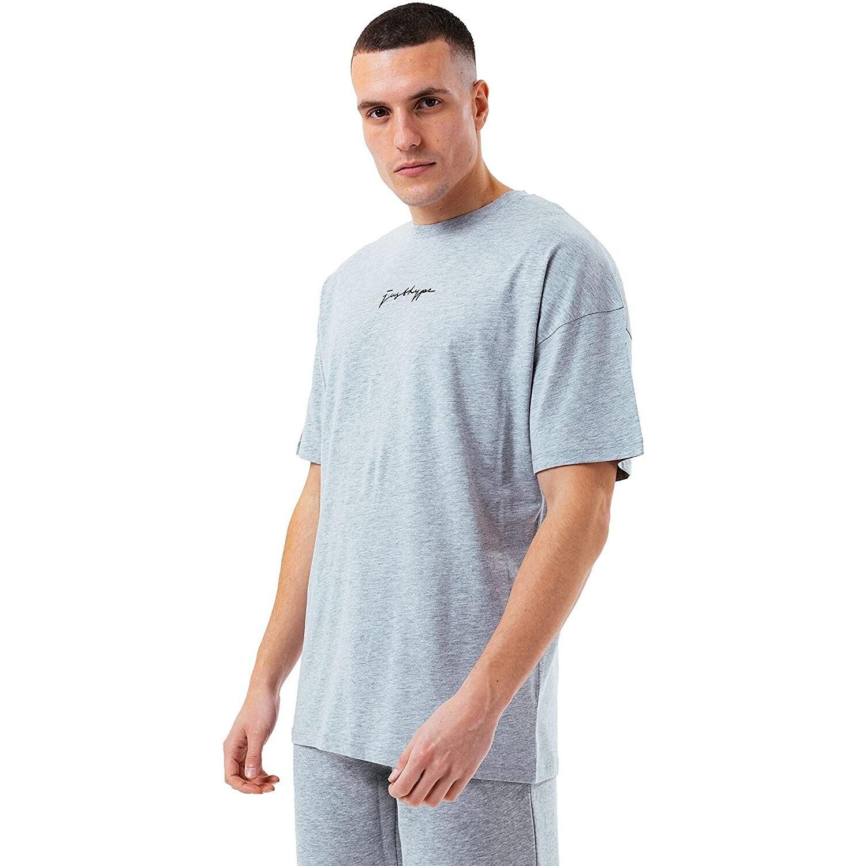 Hype Mens Oversized T-Shirt (S) (Grey)