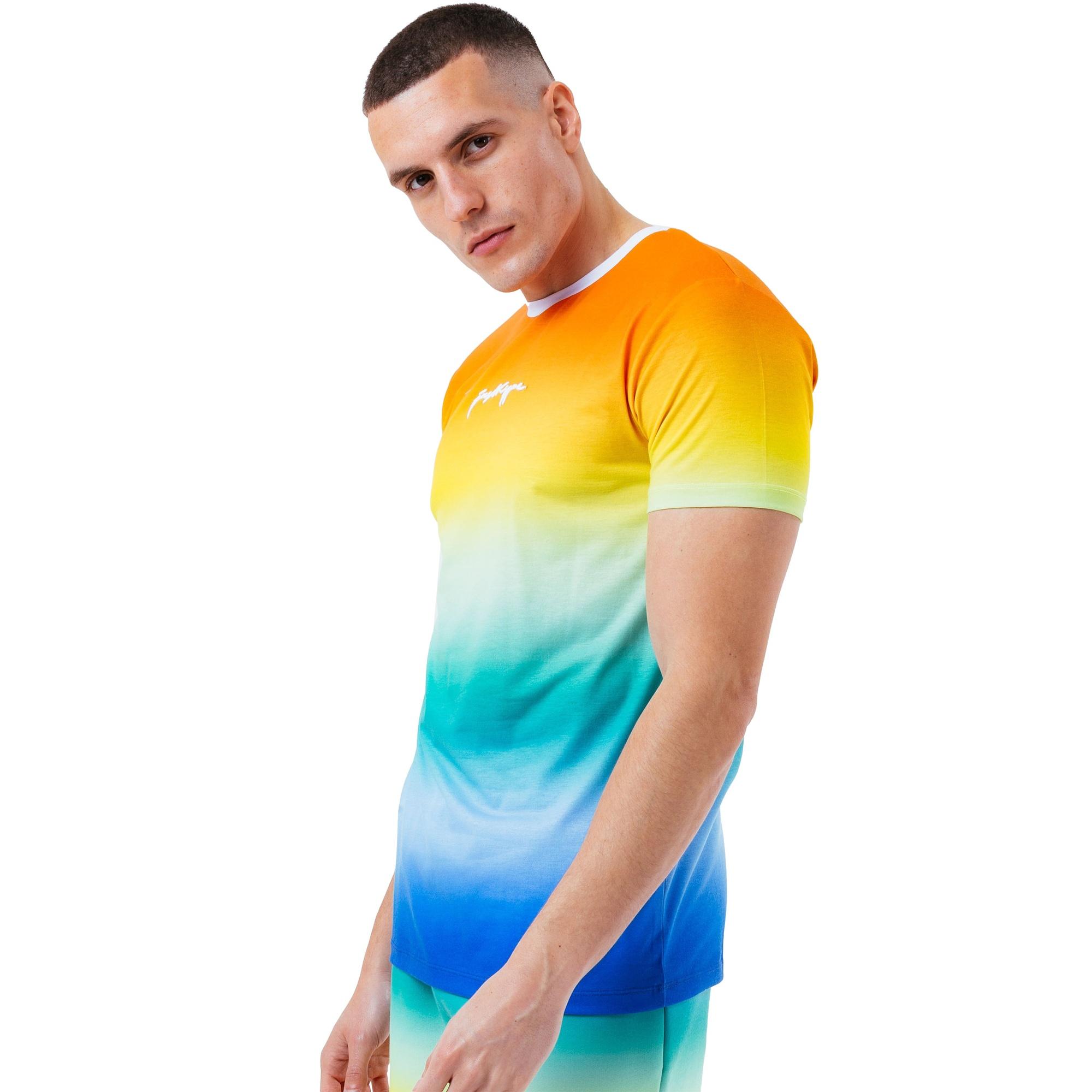 Hype Mens Fade Logo T-Shirt (M) (Multicoloured)