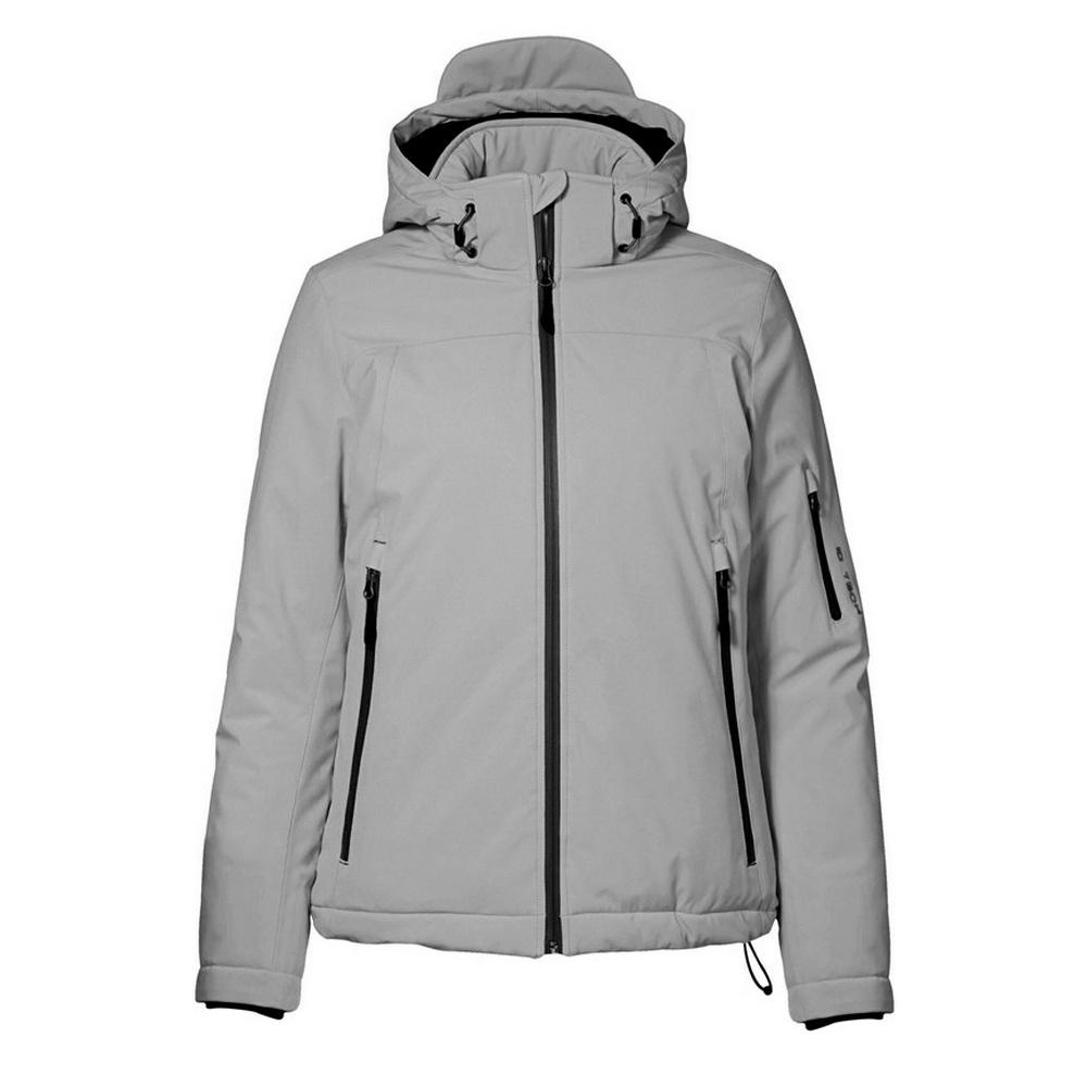 ID Womens/Ladies Winter Three Layer Regular Fitting Soft Shell Jacket (3XL) (Grey)
