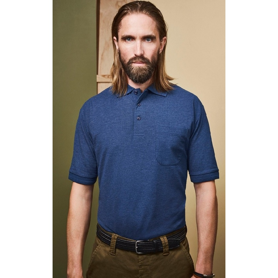 5989233c7c1 ID Mens Pro Wear Short Sleeved Polo Shirt With Pocket (ID412)