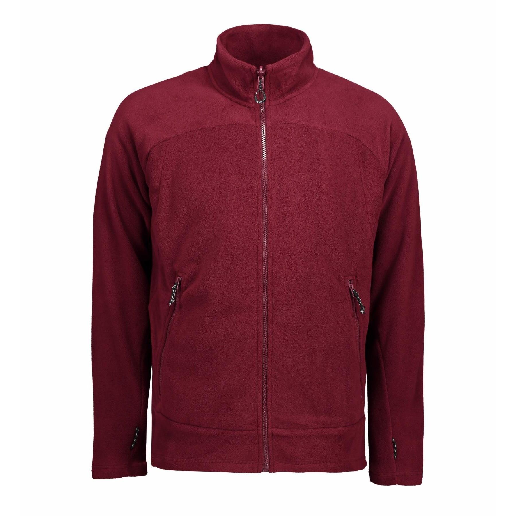 ID Mens Zip N Mix Active Fleece Jacket (2XL) (Bordeaux)